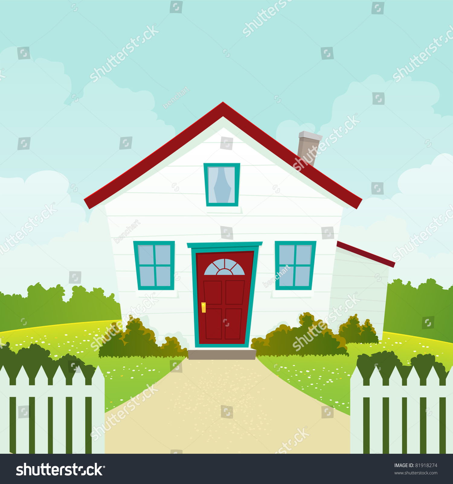 Home sweet home illustration friendly welcoming stock for American house music