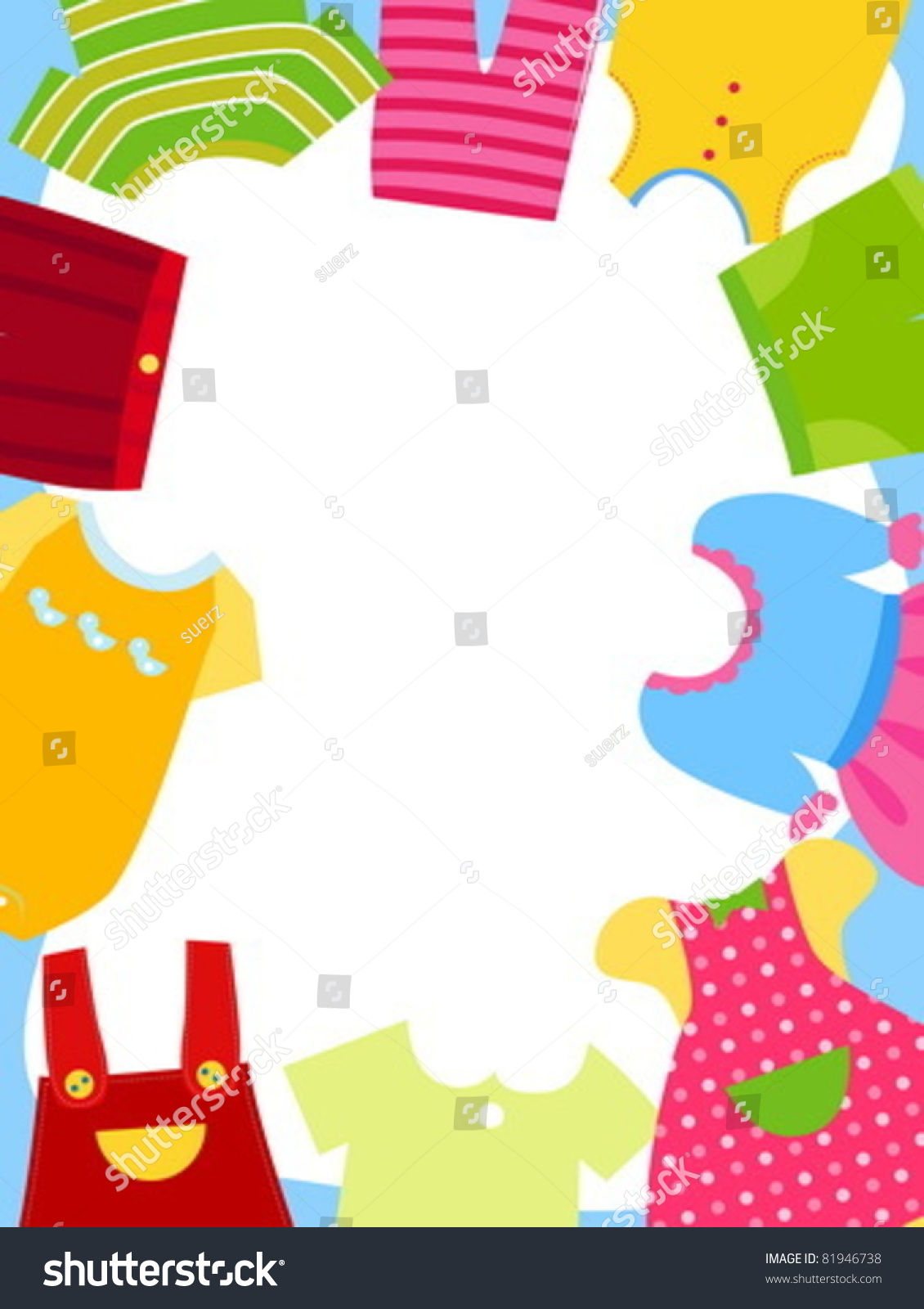 Kids Clothes Frame Stock Vector (Royalty Free) 81946738 - Shutterstock