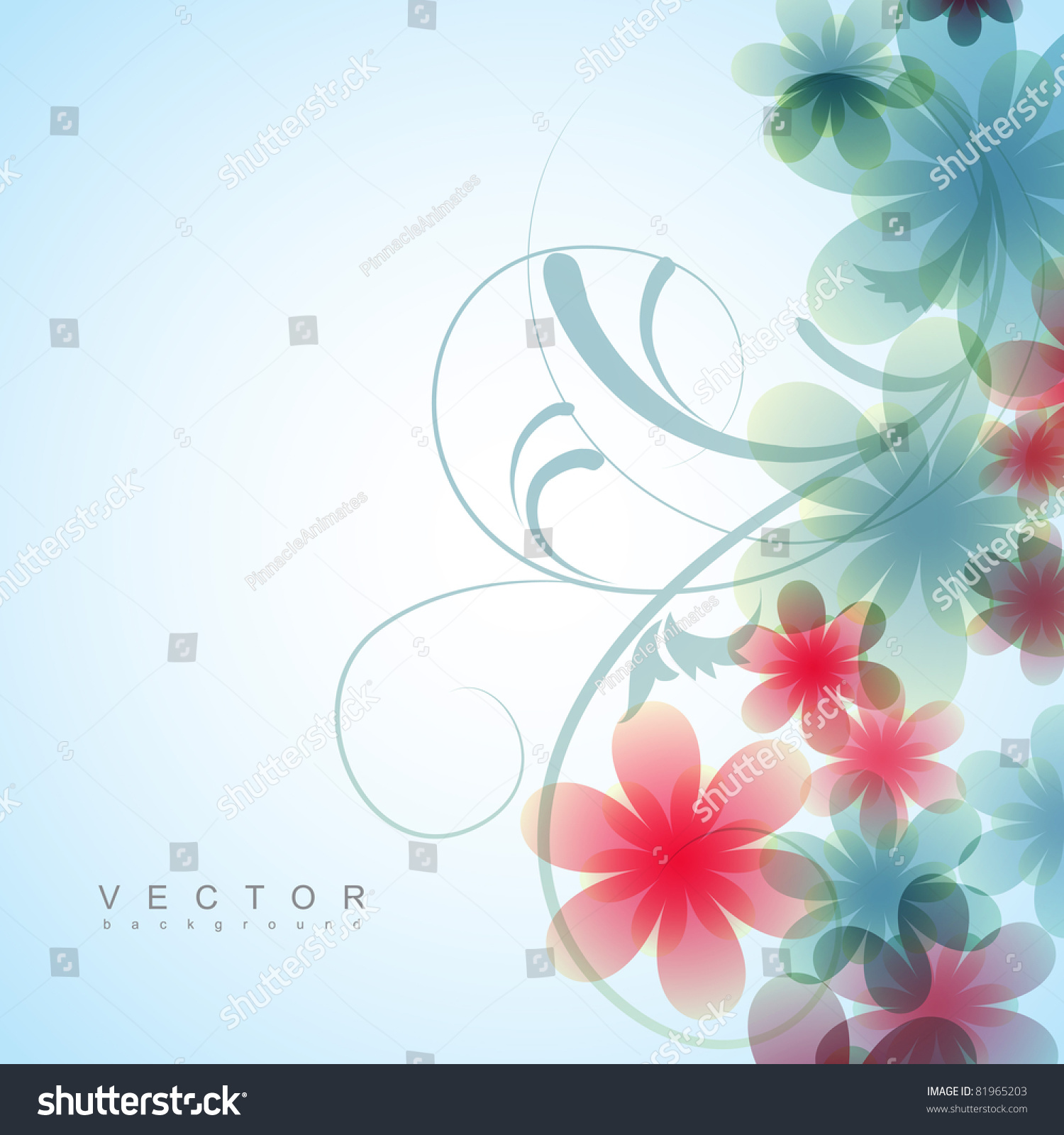 Beautiful vector flower background design stock vector 81965203 shutterstock - Photo image design ...