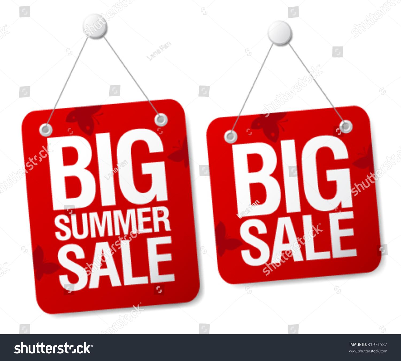 big summer sale signs set stock vector 81971587 shutterstock