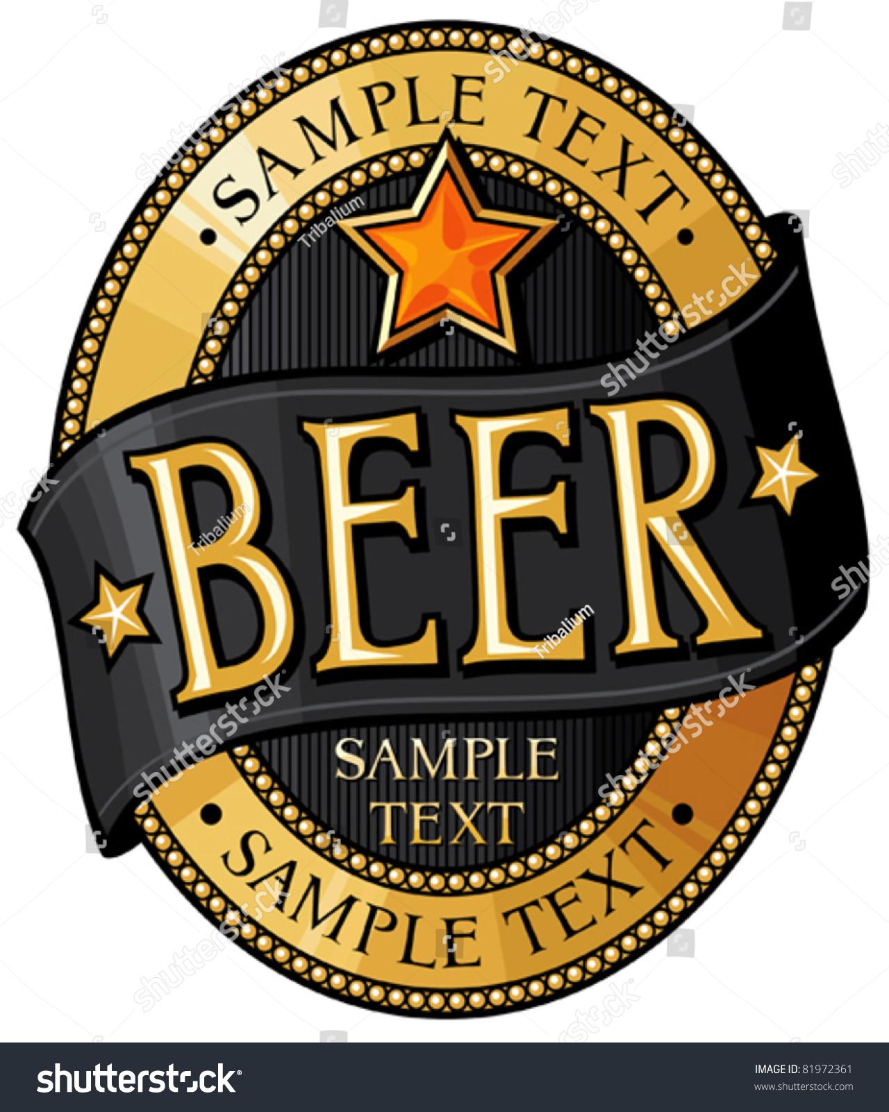 Beer Label Design Vector 81972361 Shutterstock – Beer Label