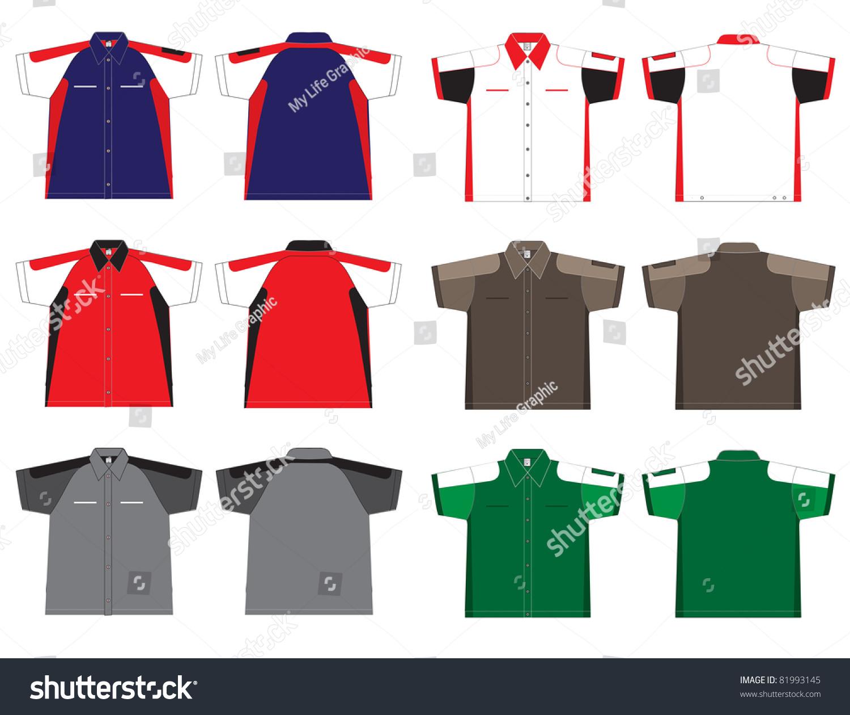 Shirt uniform design vector - Technician Uniform Shirt Design Vector Template