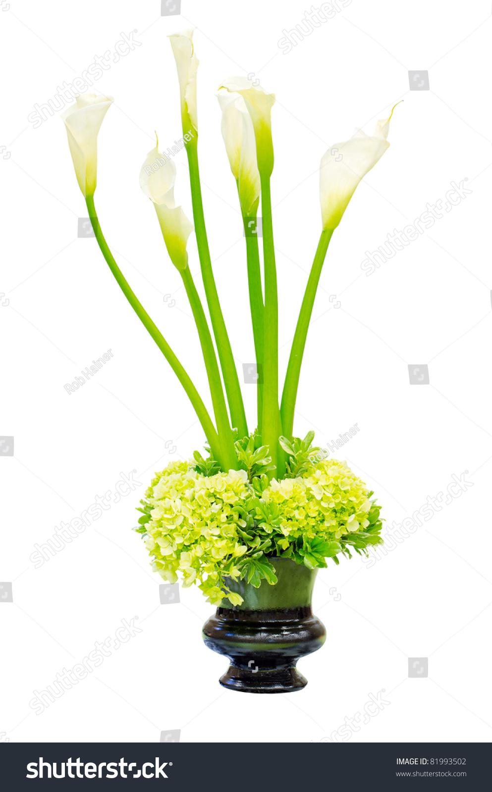 Wedding Flower Arrangement Centerpiece Calla Lily Stock Photo Edit