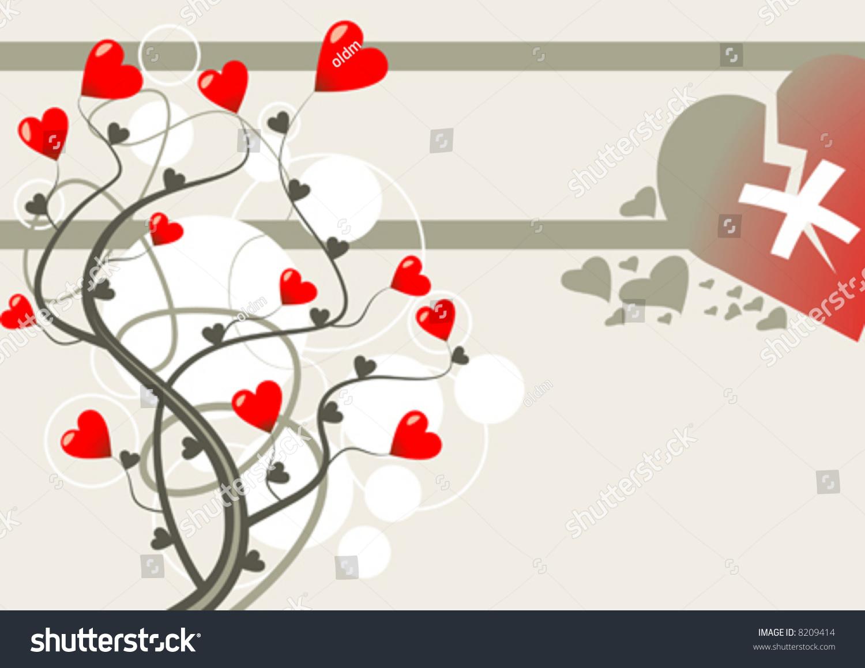 Broken love theme vector 8209414 shutterstock for Love theme images