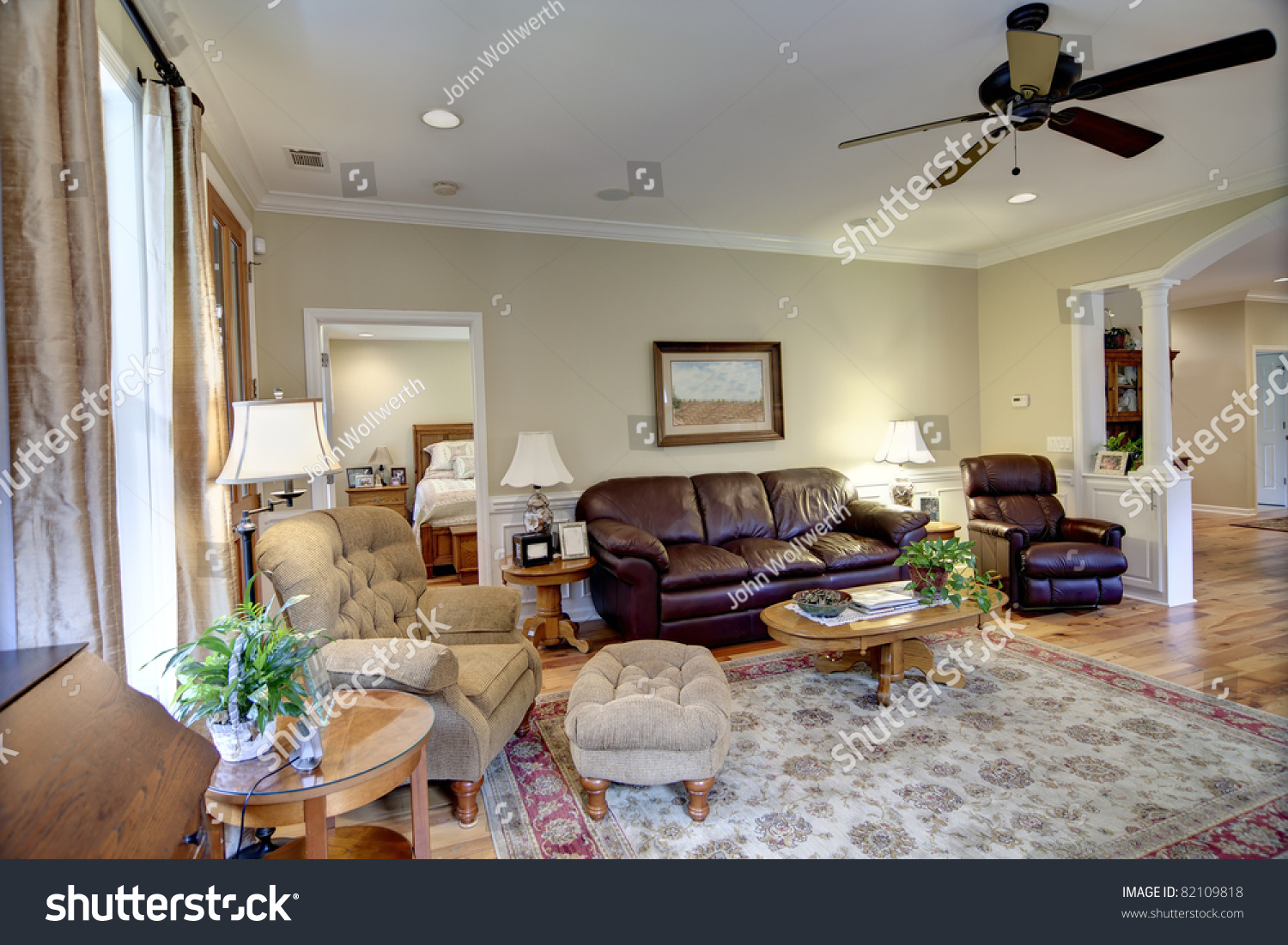 Well Decorated Living Room Nice House Stock Photo 82109818