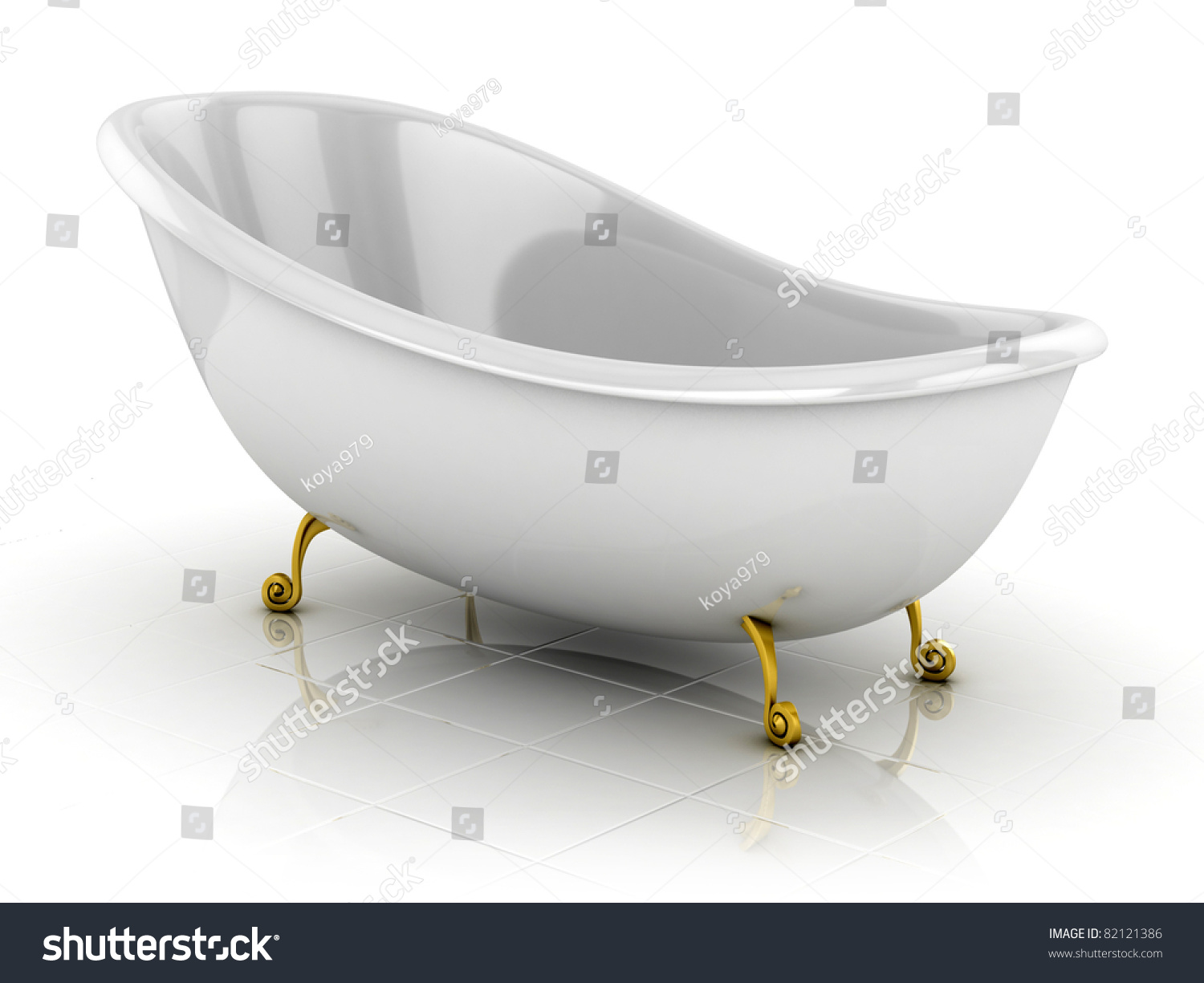 Classic Bathtub Isolated On The White