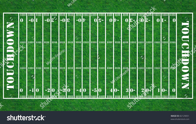 American Football Field Grass Texture Background Stock Illustration