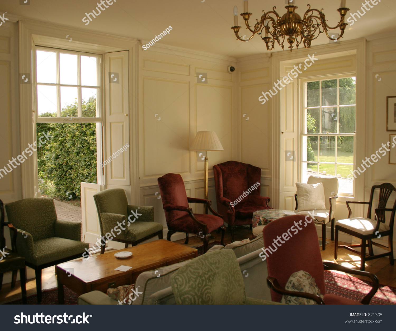 Georgian Country Manor House Interior Lounge Stock Photo  : stock photo georgian country manor house interior lounge 821305 from www.shutterstock.com size 1500 x 1251 jpeg 671kB