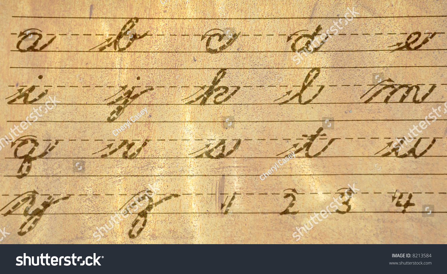 Old Fashioned Handwriting Alphabet 23