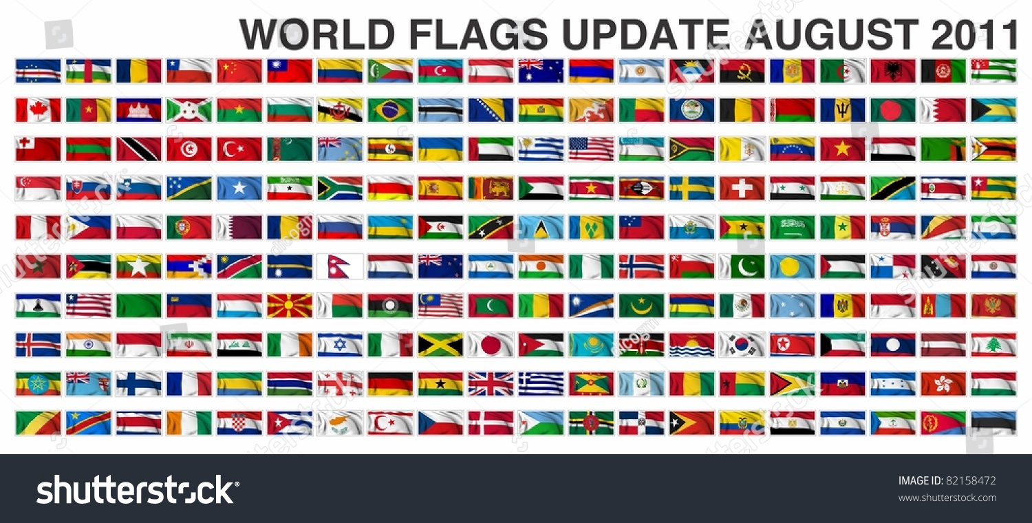 World Flags Gallery Update August 2011 Stock Illustration 82158472 ...