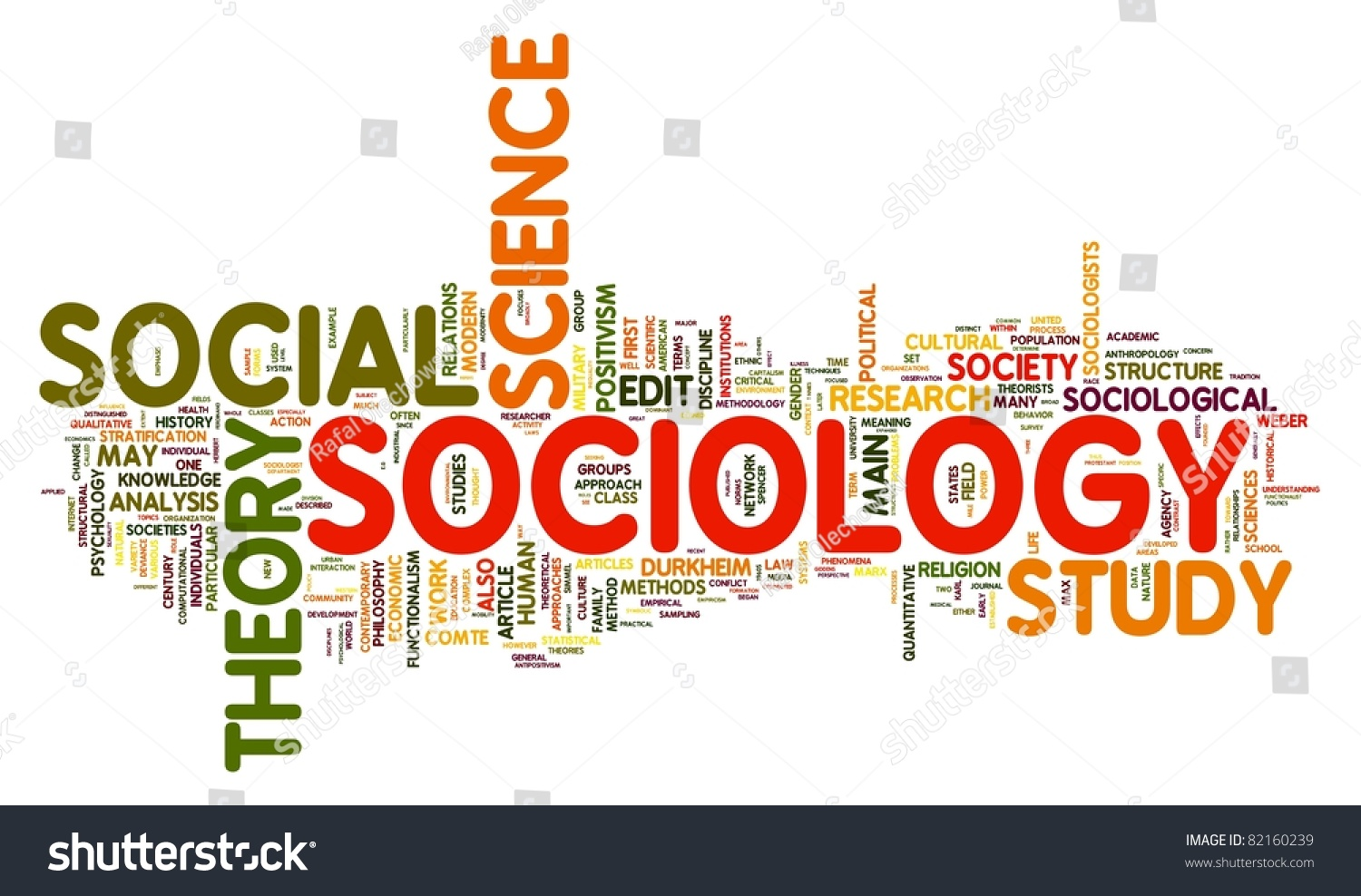sociology concept word tag cloud stock illustration  sociology concept in word tag cloud