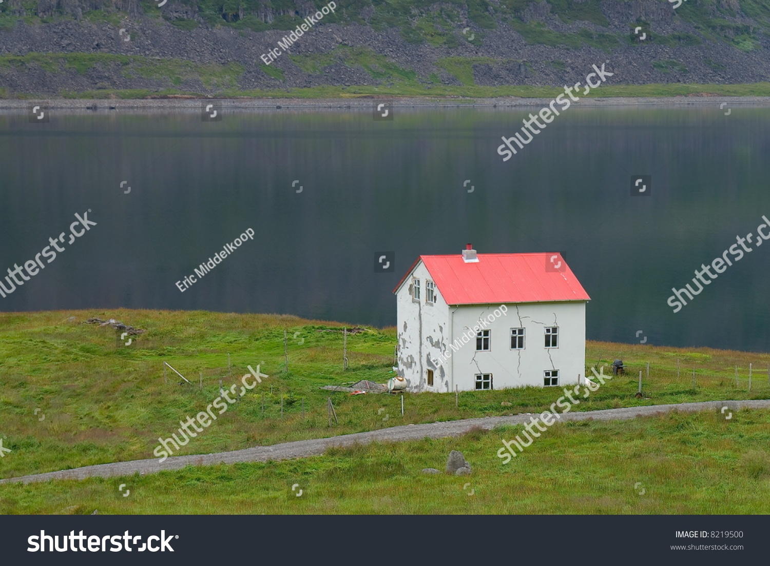 A lonely house in the fjords area of west iceland stock for Iceland lonely house