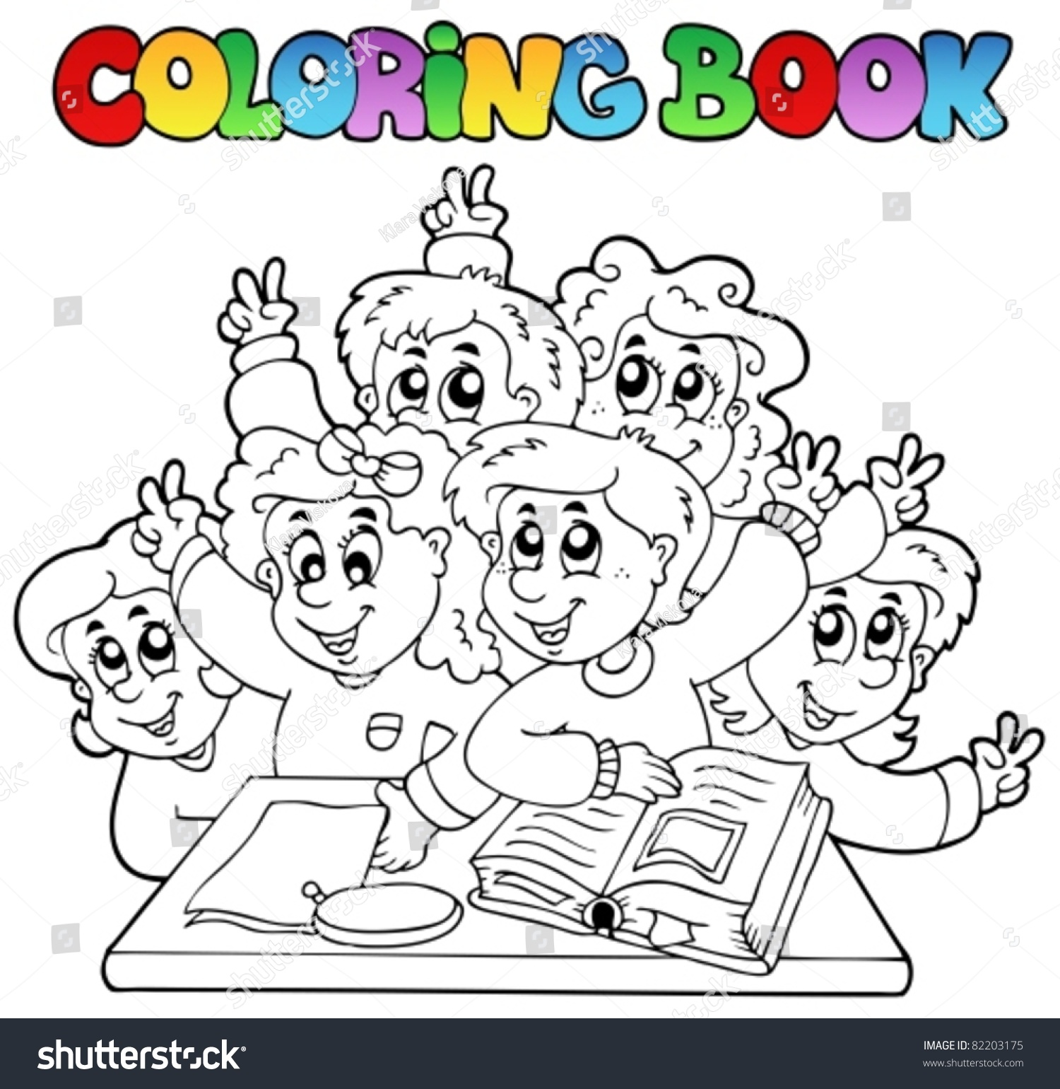 Coloring book school - Coloring Book School Cartoons 3 Vector Illustration