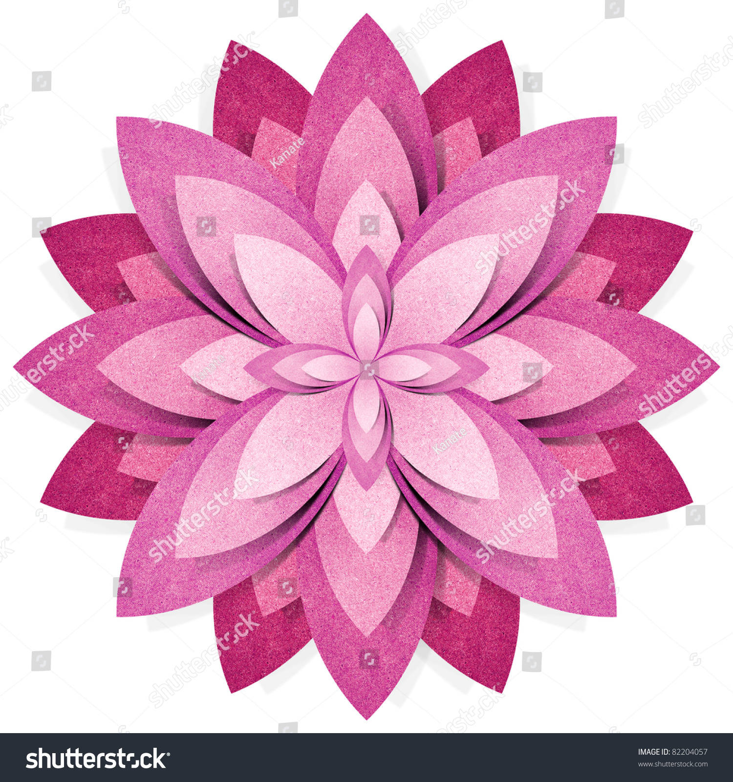 Flower Origami Recycled Paper Craft Stick Stock Illustration