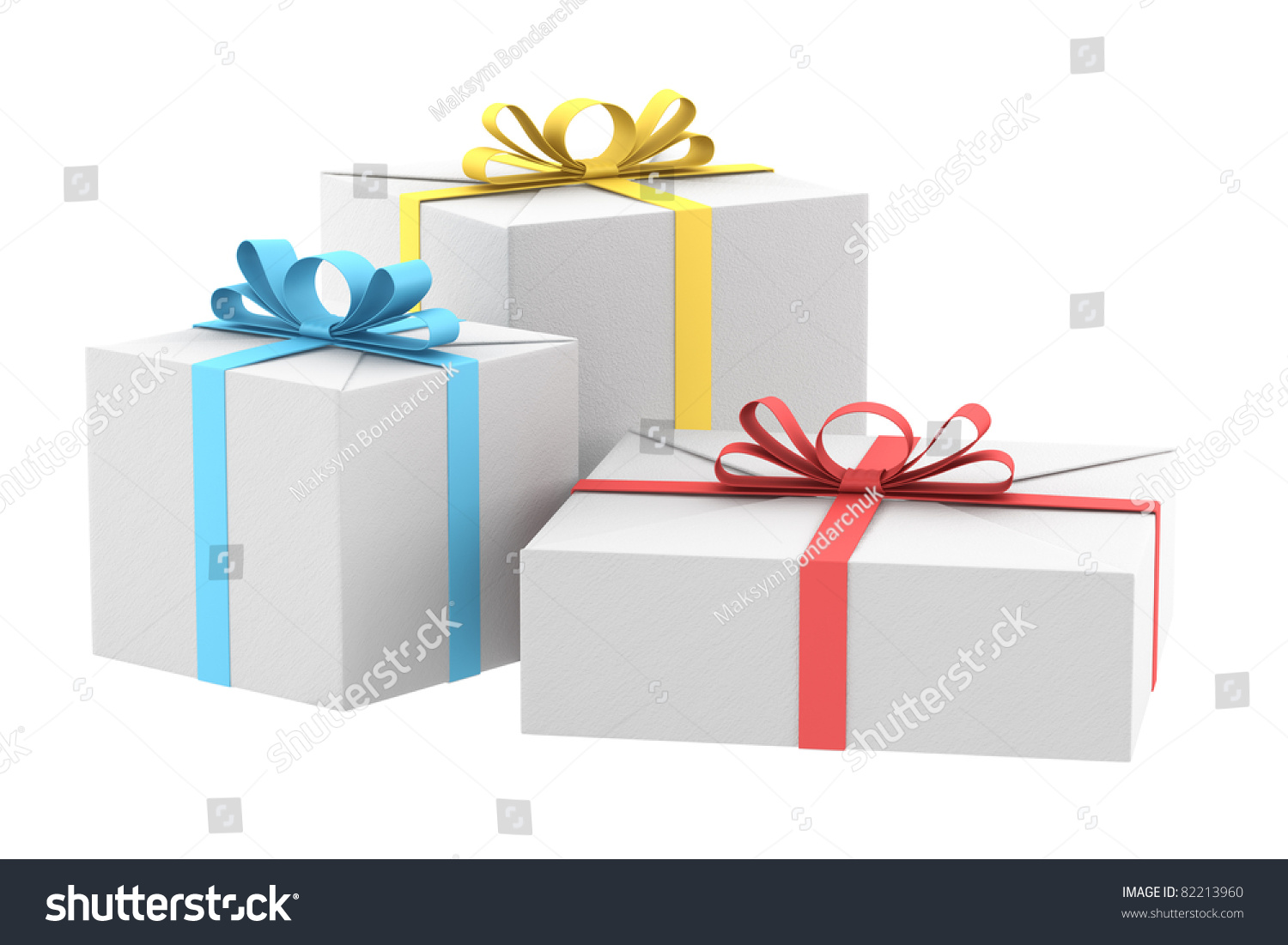 Three white gift boxes color ribbons stock illustration 82213960 three white gift boxes color ribbons stock illustration 82213960 shutterstock negle Image collections