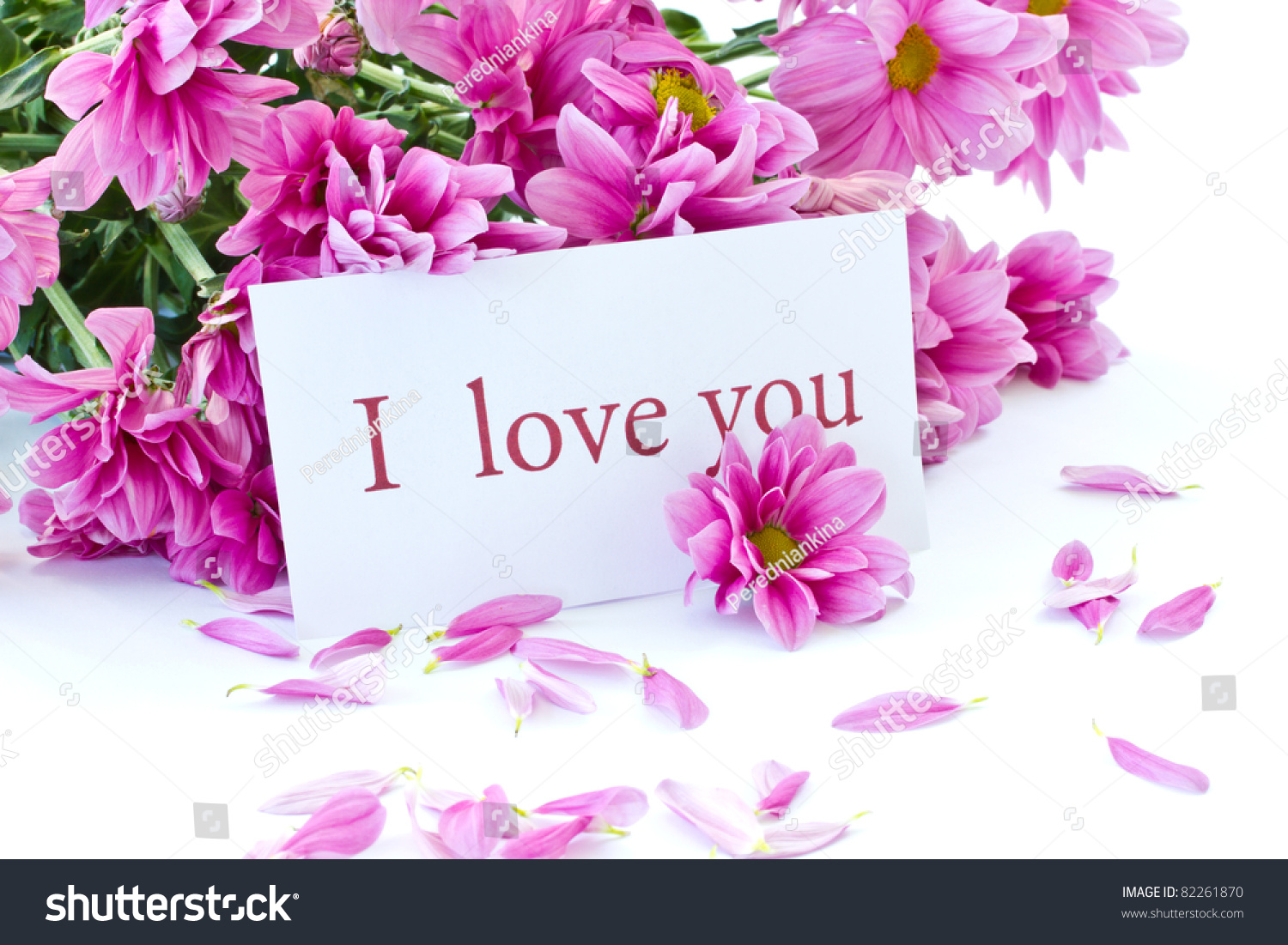 Says I Love You On Background Stock Photo Edit Now 82261870