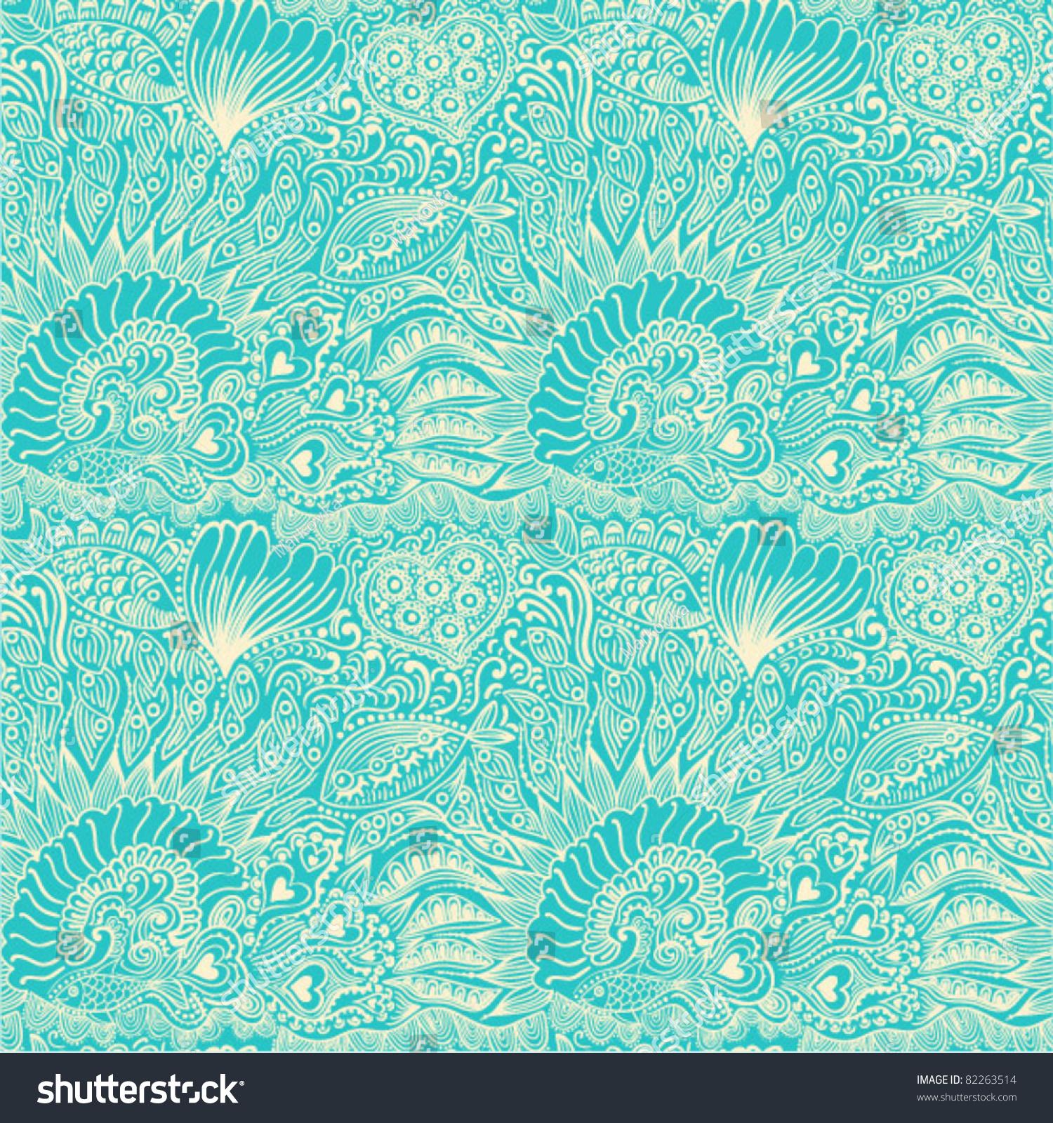 Seamless Underwater Texture abstract seamless pattern underwater life fish stock vector
