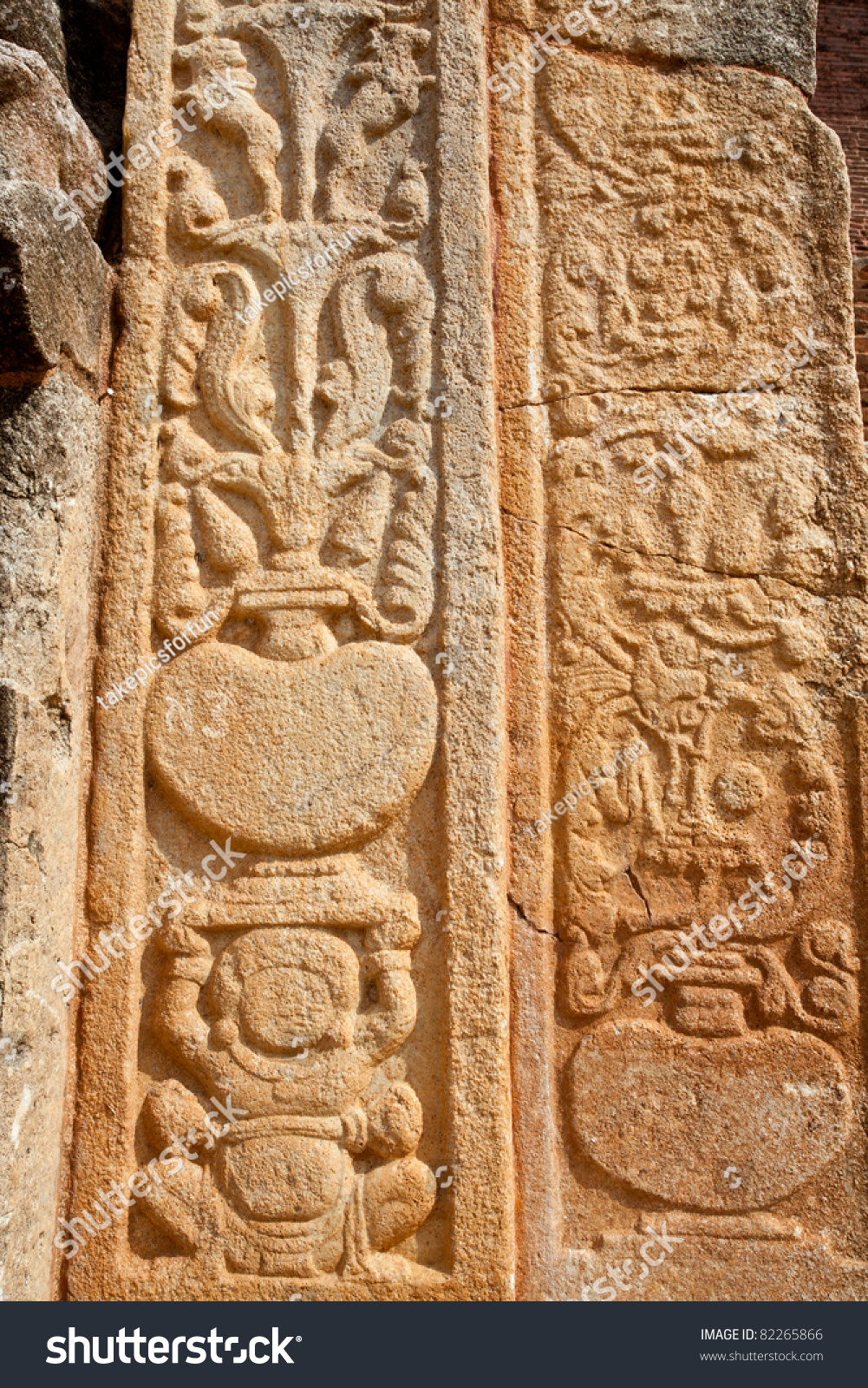 Ancient stone carvings in jetavana monastery anuradhapura