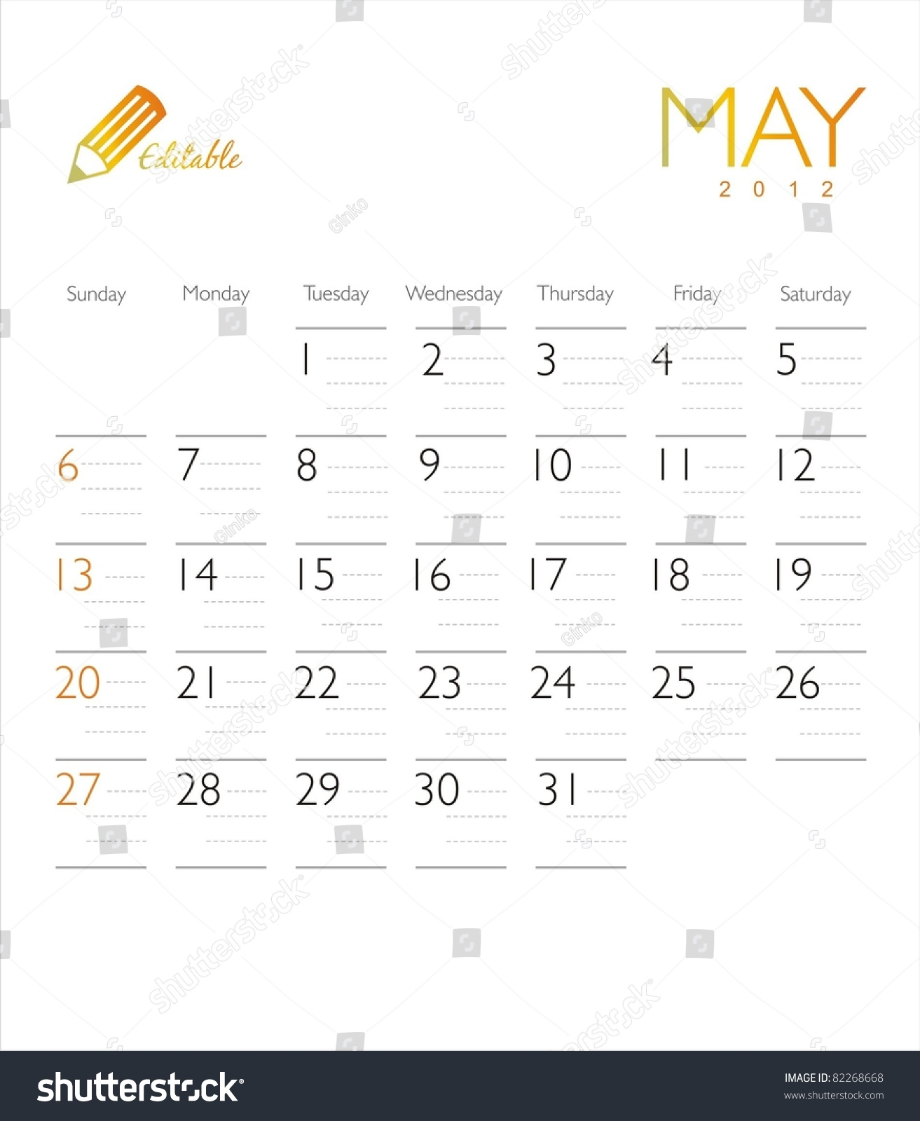 May Calendar Vector : Vector calendar may stock shutterstock