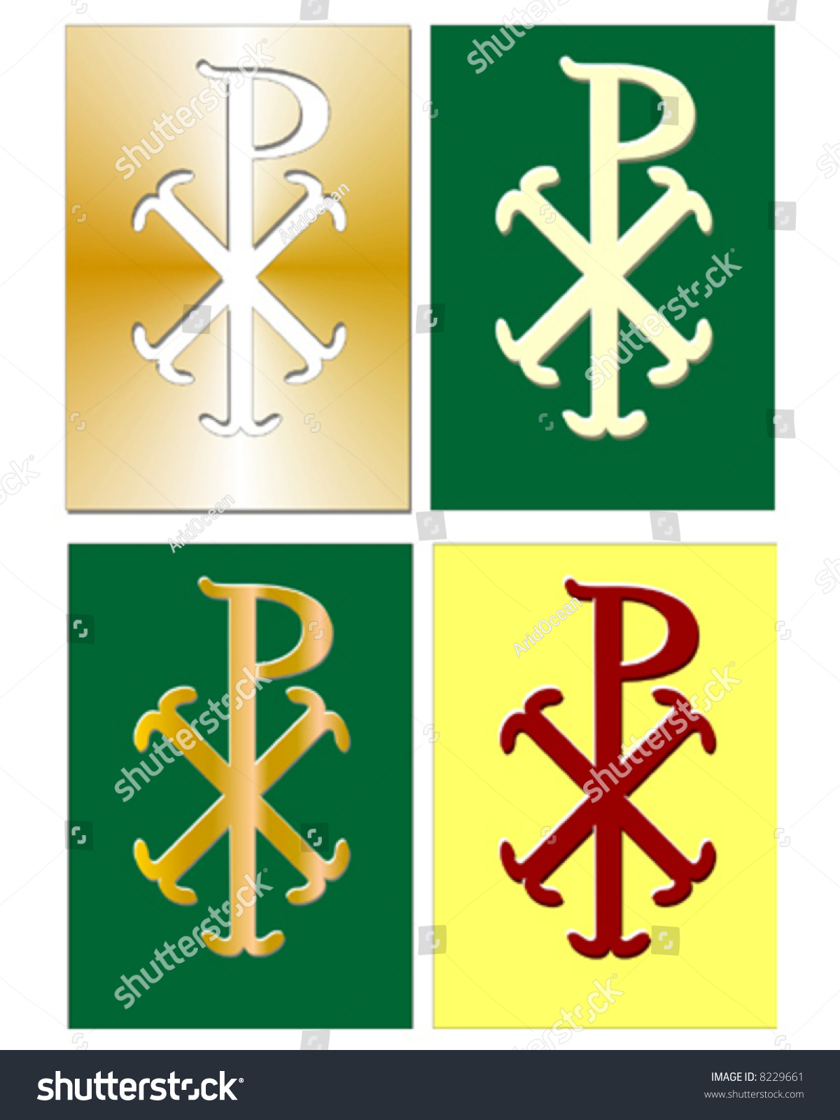 Christian chi rho symbol for christ stock vector 8229661 shutterstock christian chi rho symbol for christ in different colors buycottarizona Images