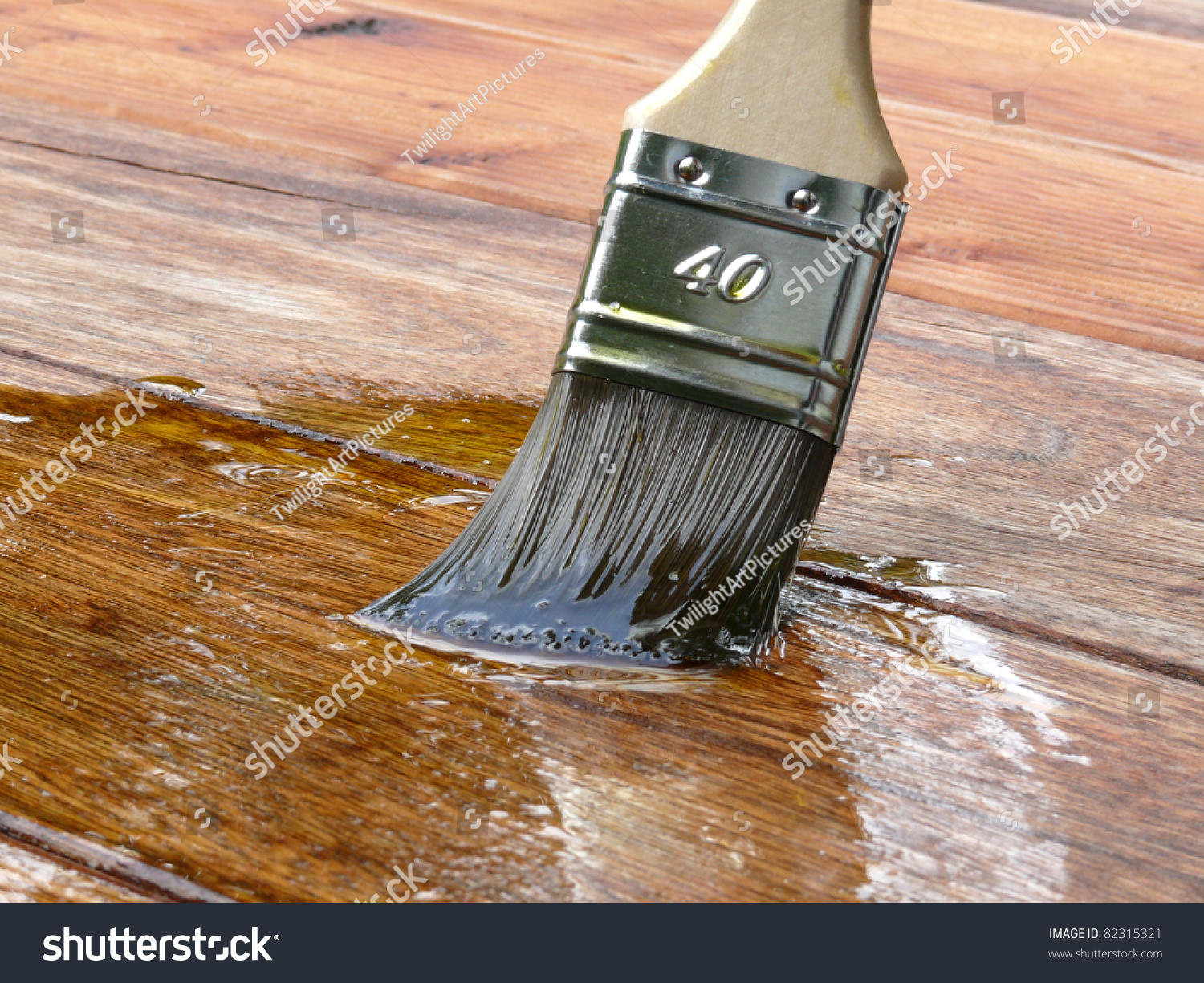 Linseed Oil Varnish Paint On Wood Stock Photo 82315321 Shutterstock