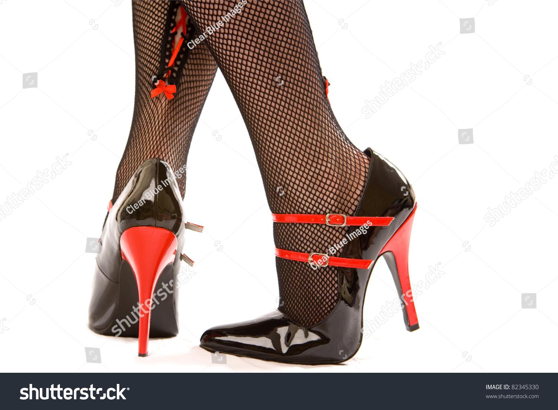 Black Patent High Heel Shoes