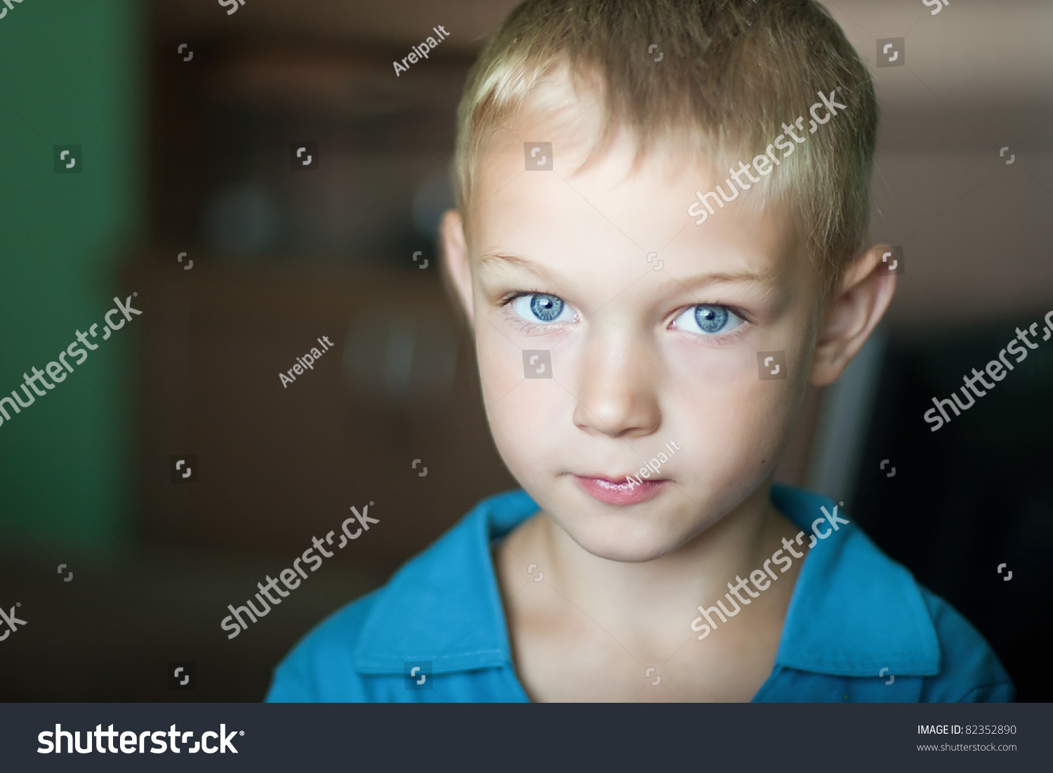 portrait cute kid blue eyes stock photo & image (royalty-free
