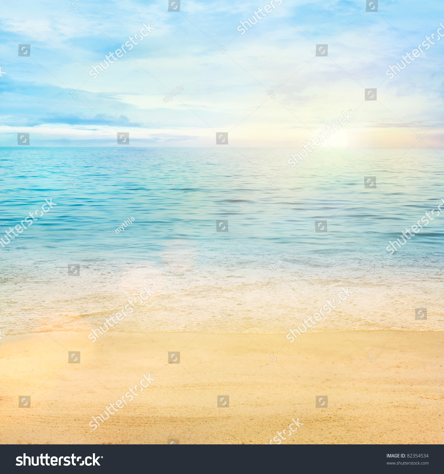 Beautiful Sea Summer Spring Abstract Background Stock