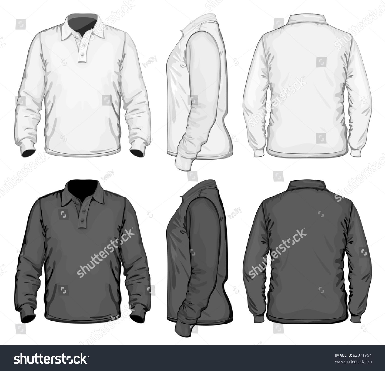 Vector Mens Poloshirt Design Template Front Stock Vector