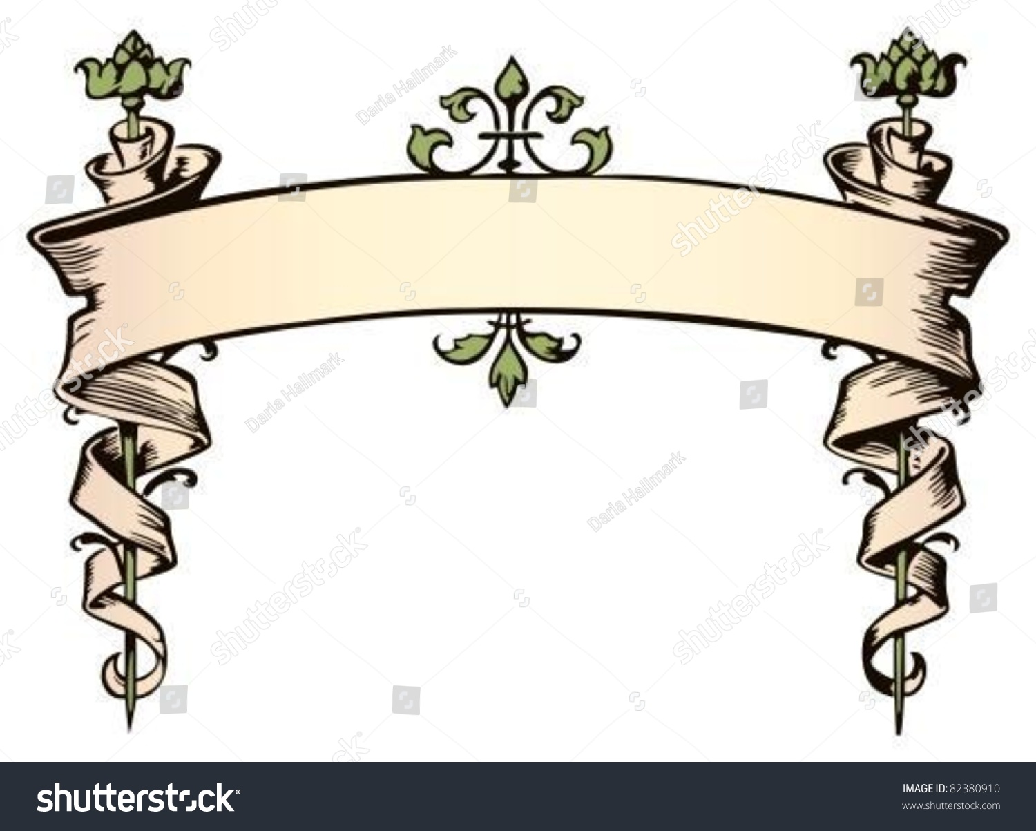 Fussy Victorian Style Banner Stock Vector 82380910 - Shutterstock