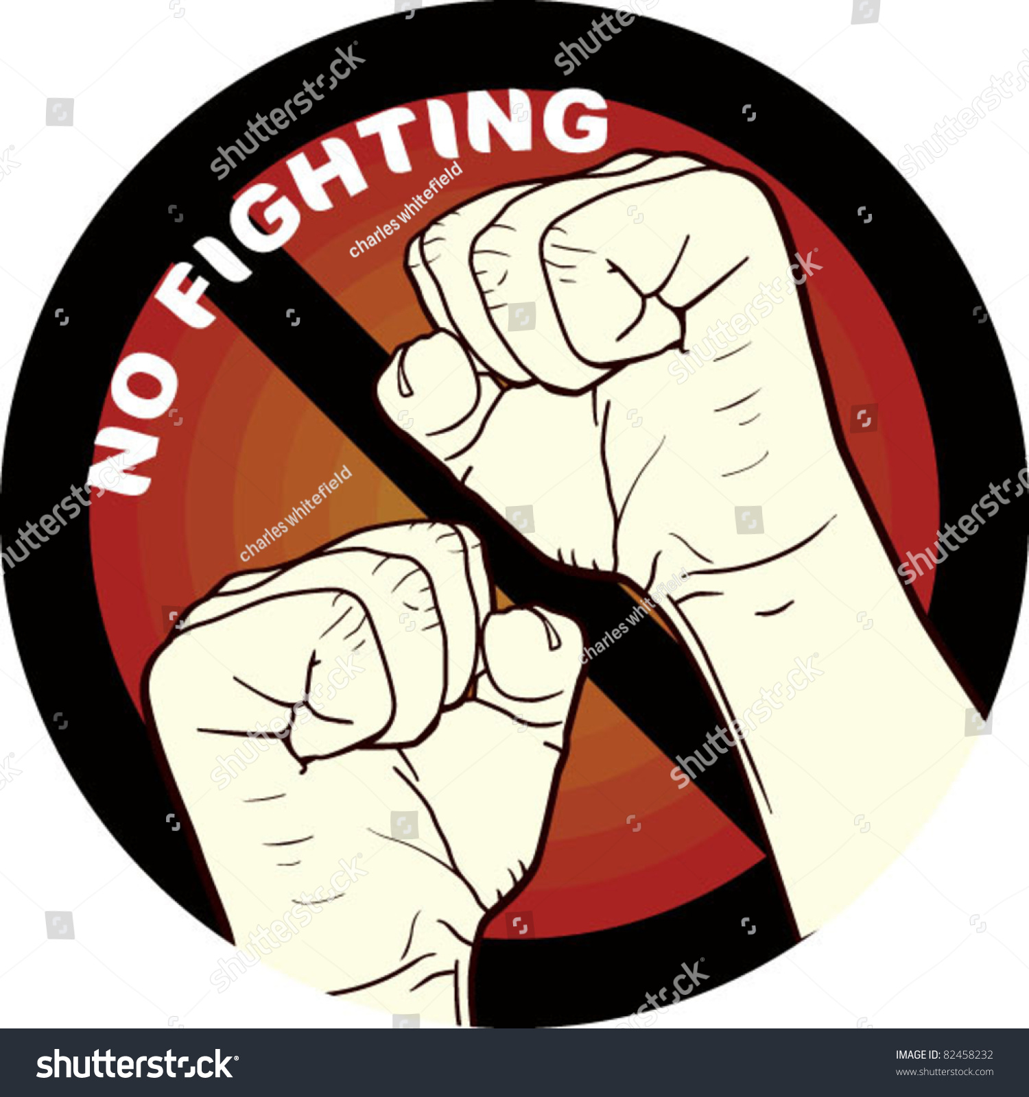 No Fighting, Fighting Is Not Allowed Stock Vector ...