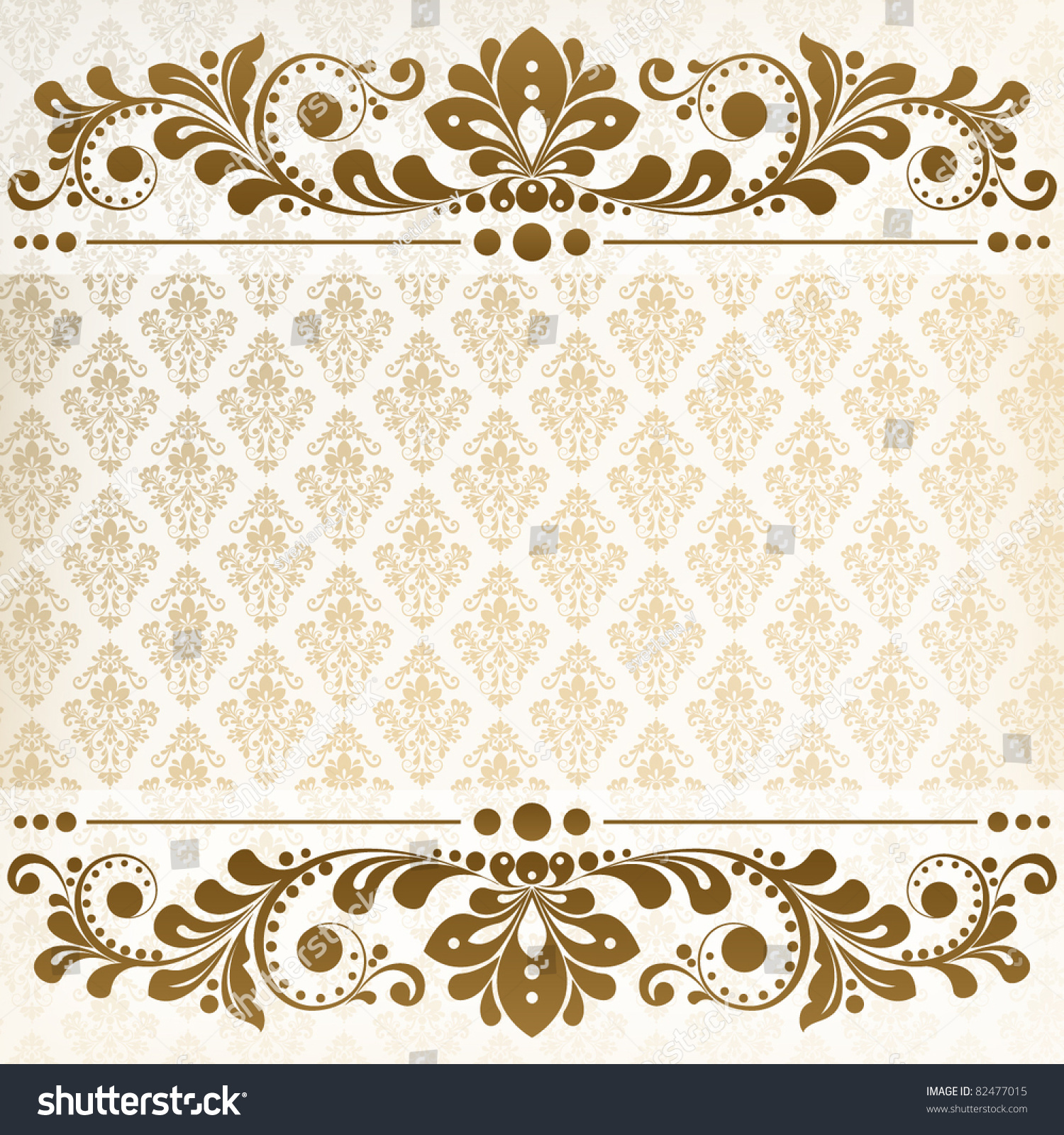 Victorian Design Style Vector Vintage Floral Background Decorative Flowers Stock