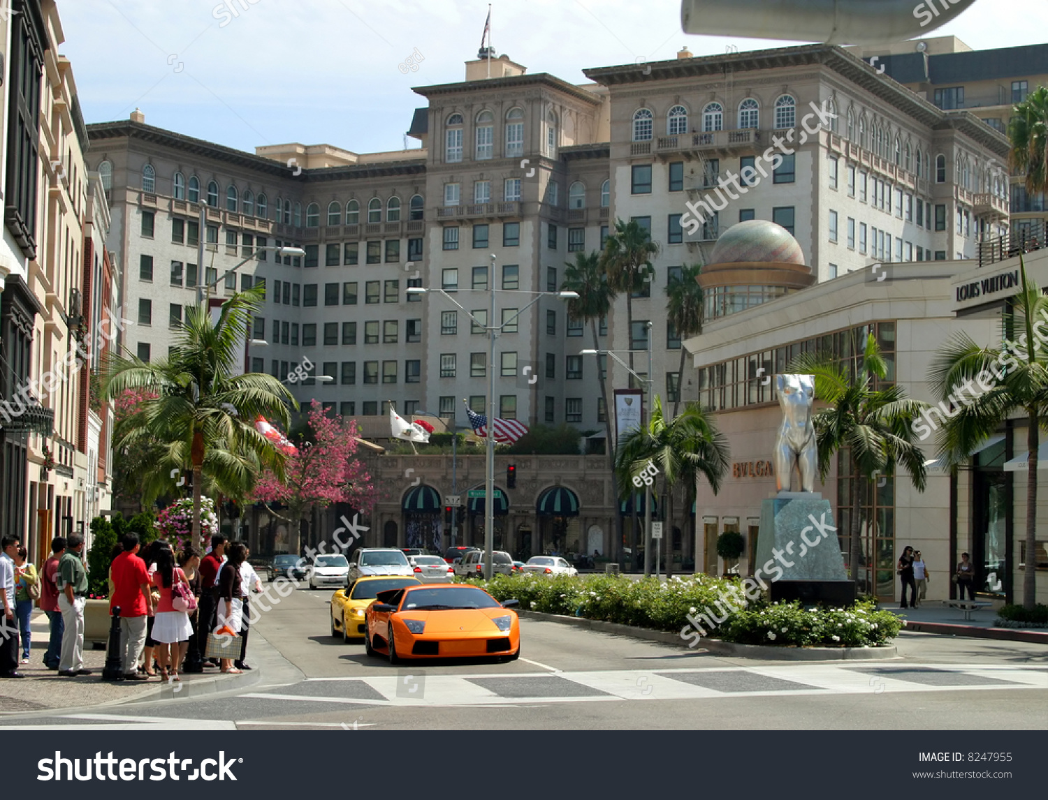 On Rodeo Drive Beverly Hills California Stock Photo