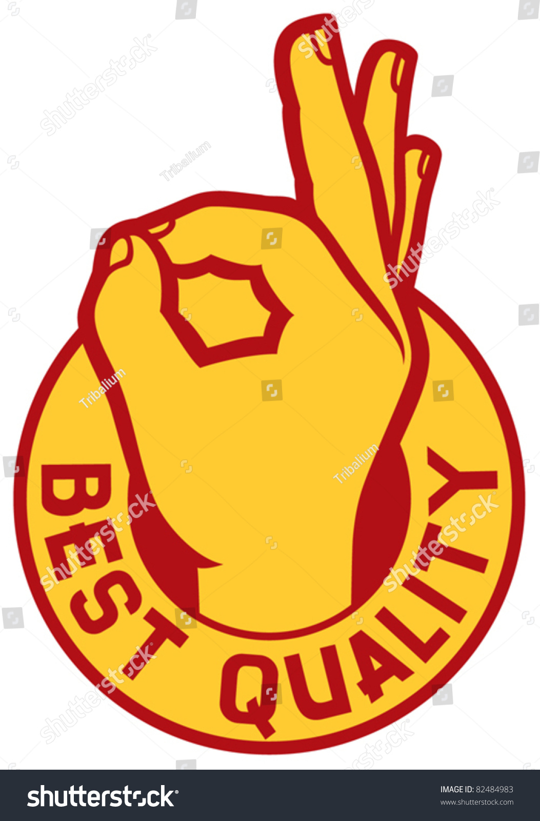 Best Quality Symbol Man Hand Showing Stock Vector 82484983
