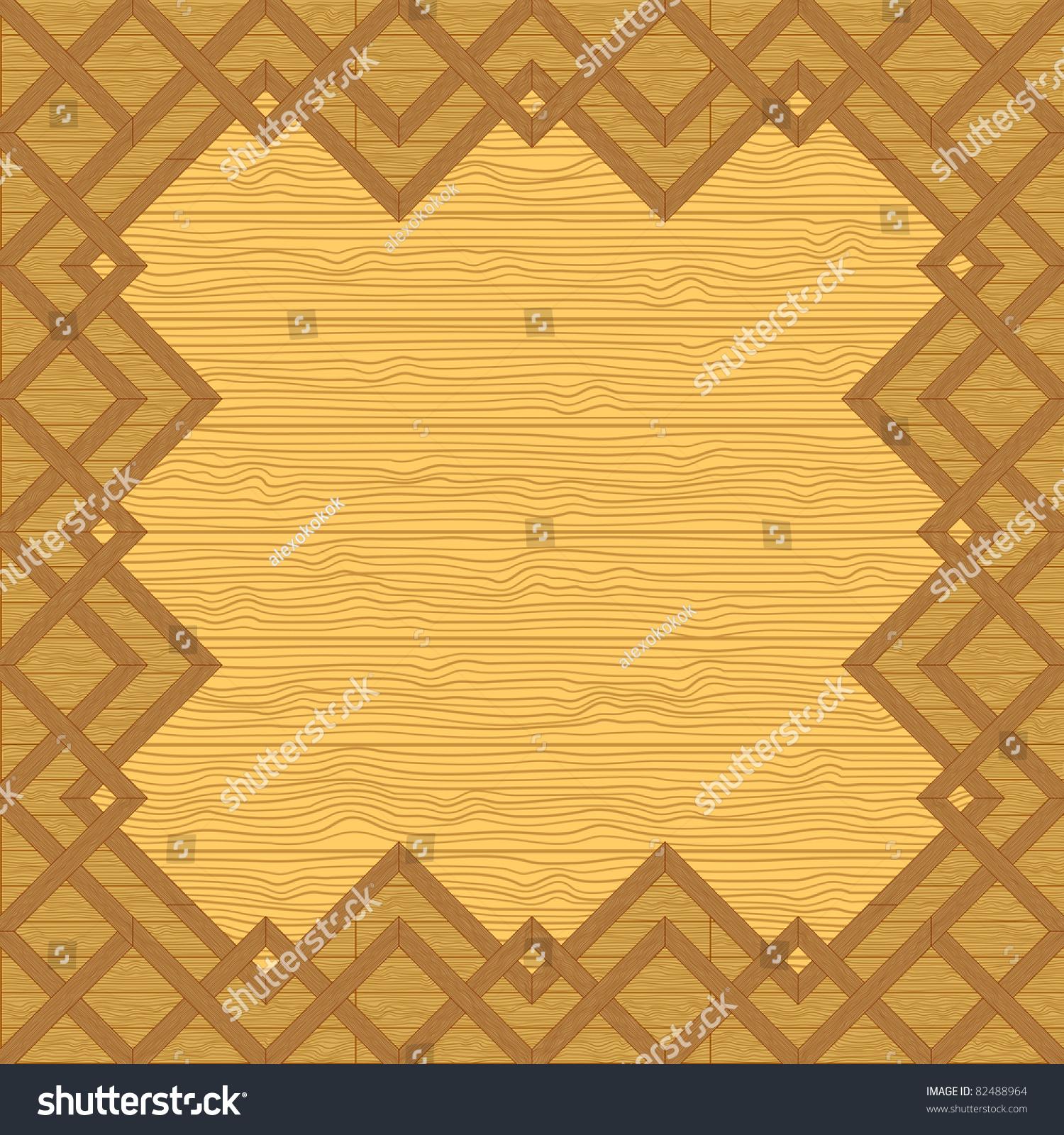 Vector Ornate Decorative Wooden Frameworks On Stock Vector 82488964 ...