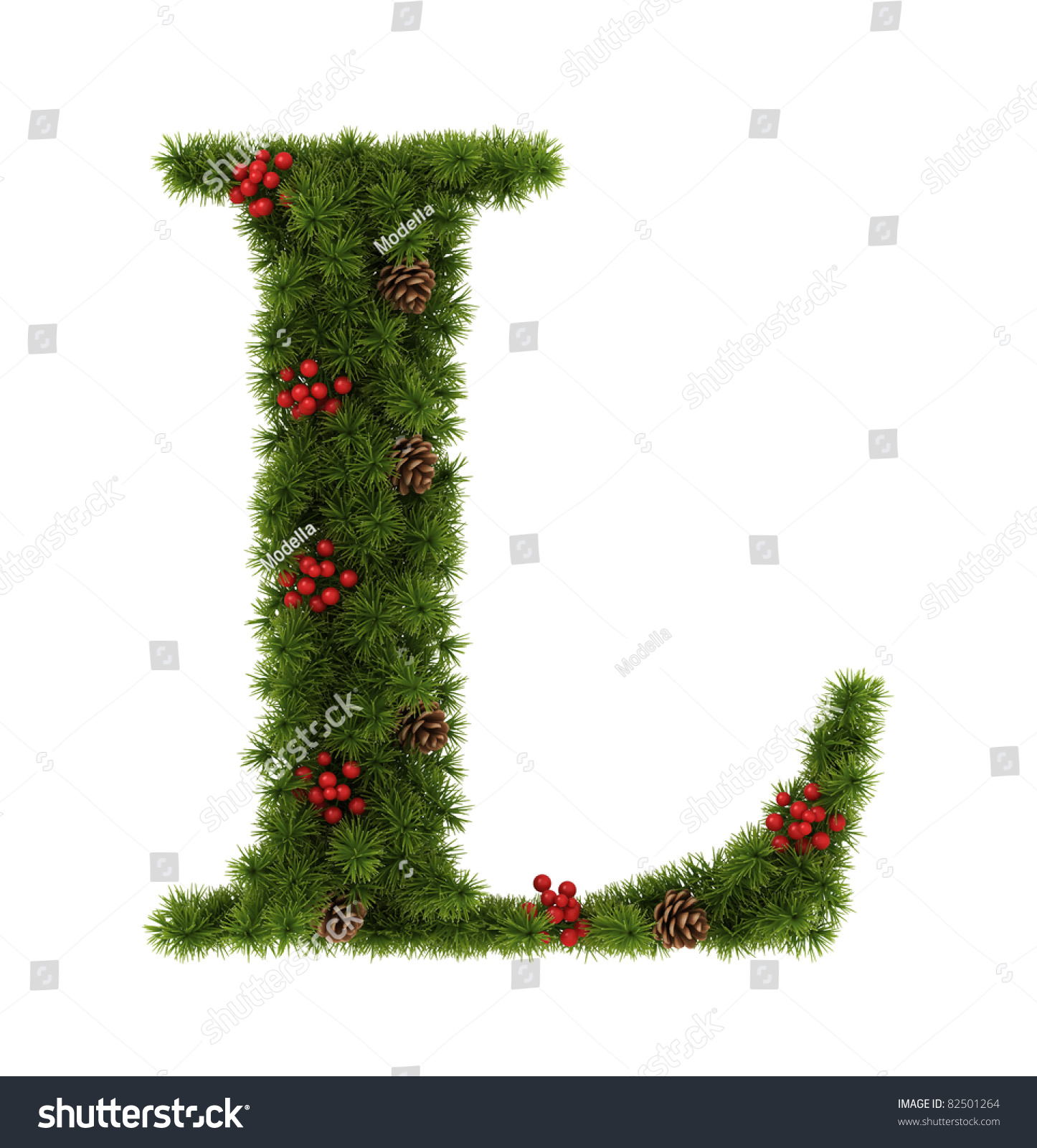 Christmas Alphabet. Letter L. Stock Photo 82501264