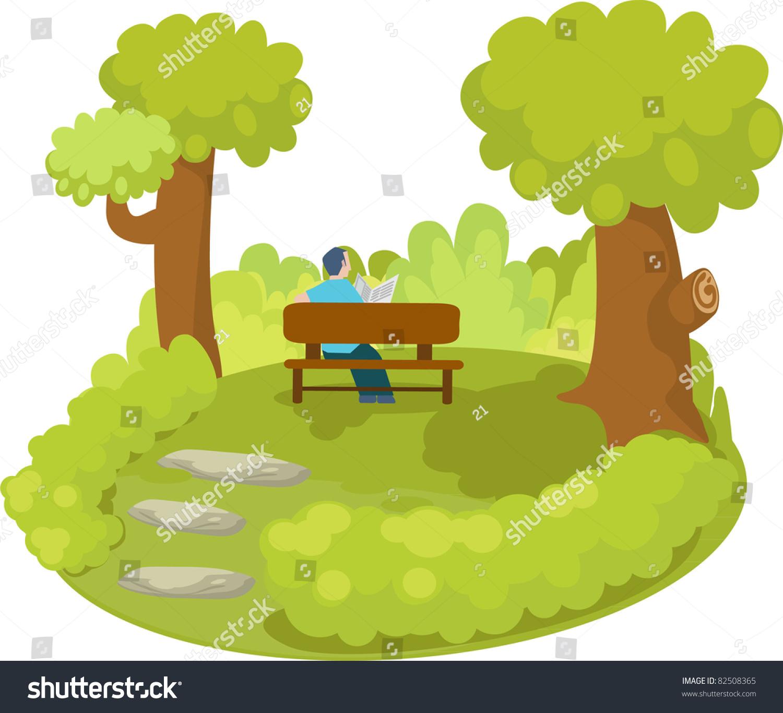 Park Small Cartoon Stock Vector Shutterstock
