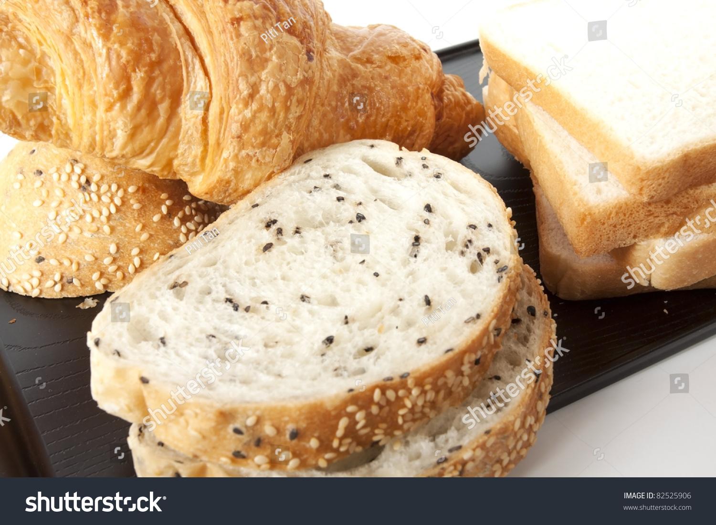 Mixed Bread Sesame Bread White Bread Stock Photo 82525906 ...