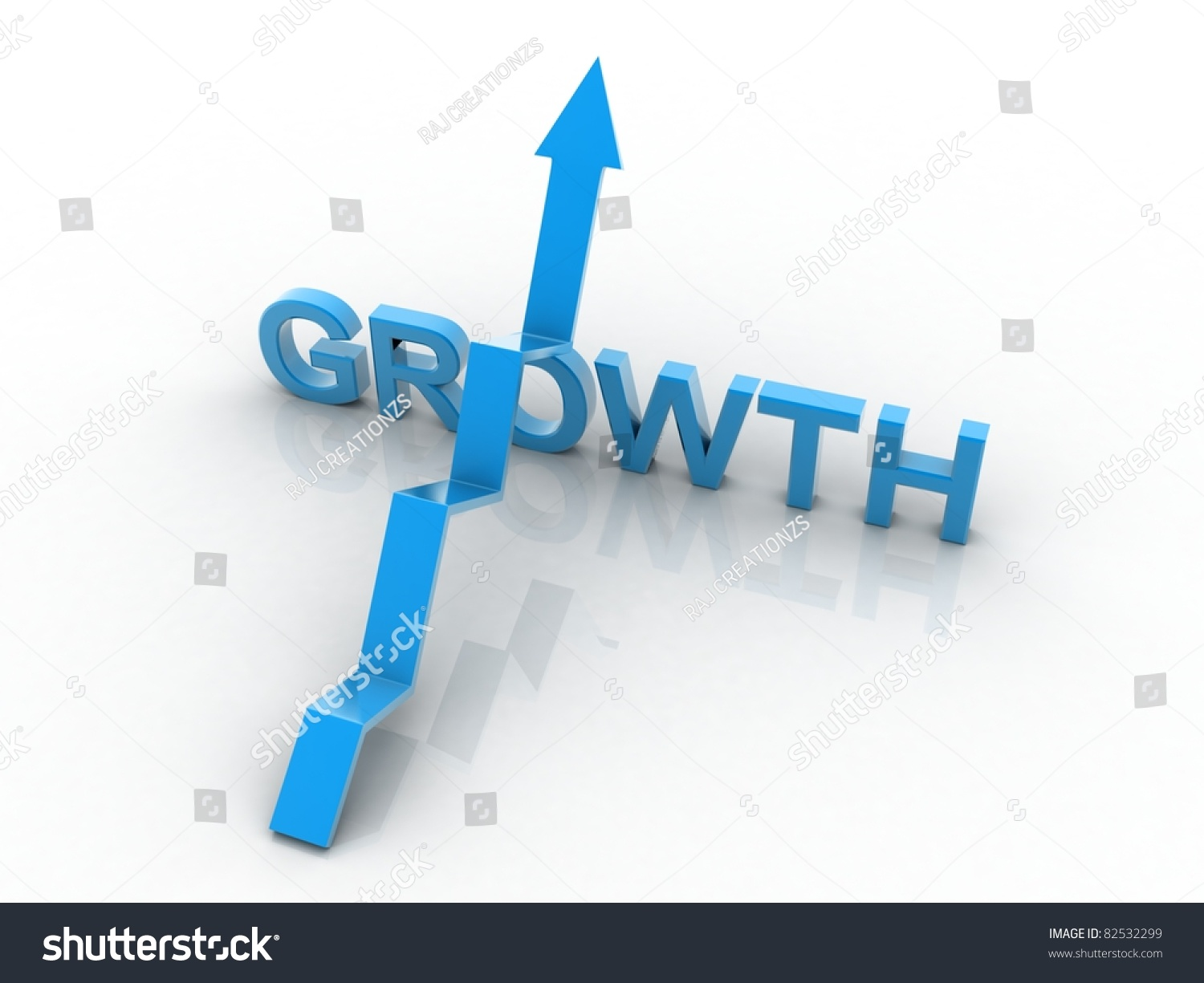 Up Arrow Indicate Business Growth Stock Photo 82532299 ...