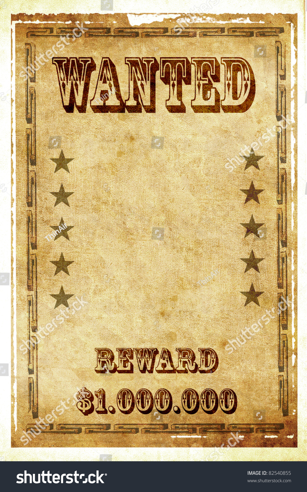 vintage wanted poster stock illustration 82540855 shutterstock