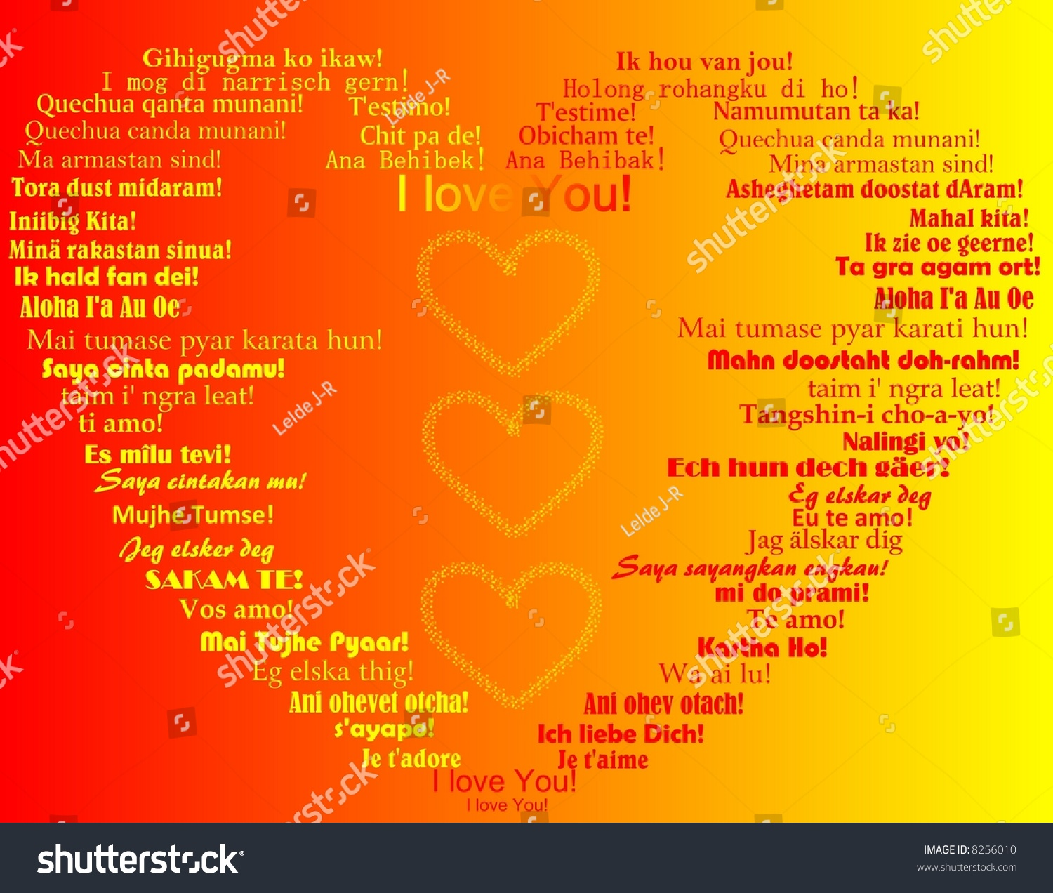 Valentines Day Greeting Card Romantic Background Stock Illustration