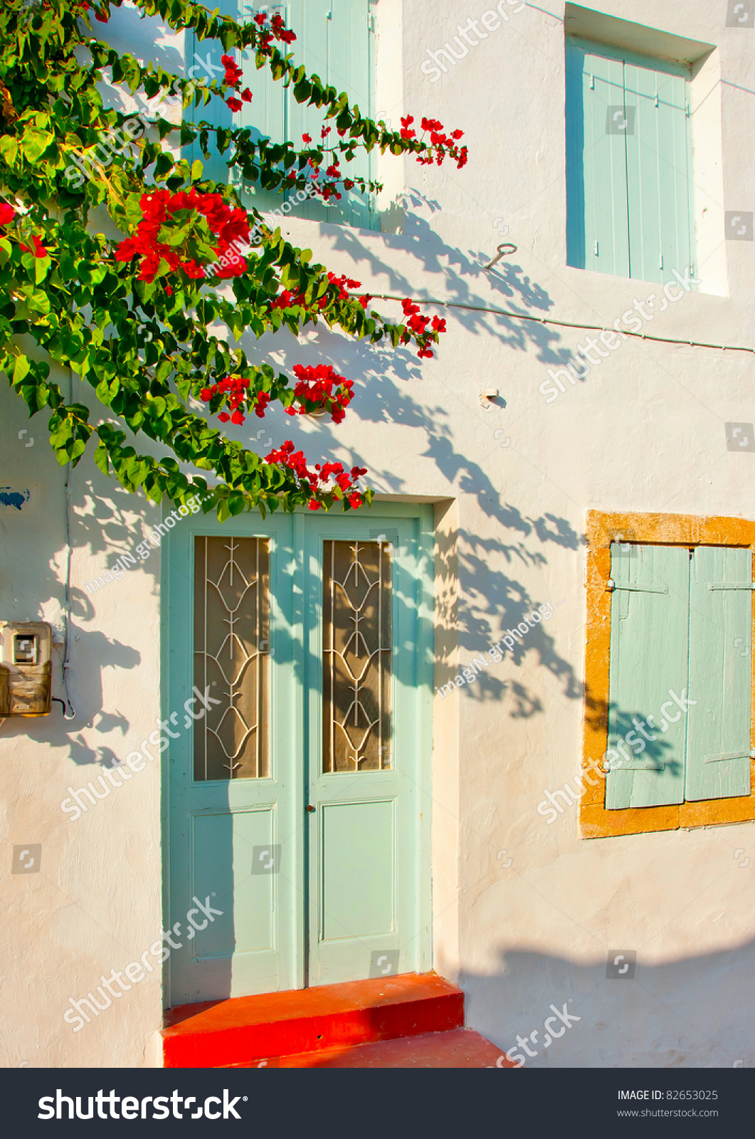 Old beautiful traditional house in chora the capital of amorgos island - Old Traditional House With Green Windows In Kithira Island Greece Preview Save To A Lightbox