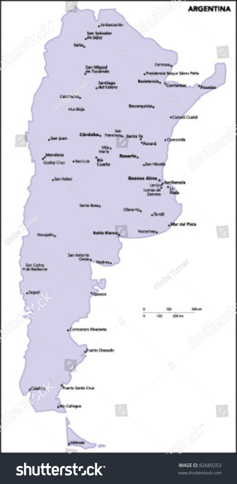 Argentina Country Political Map Including Silicon Valley Map - Argentina map vector