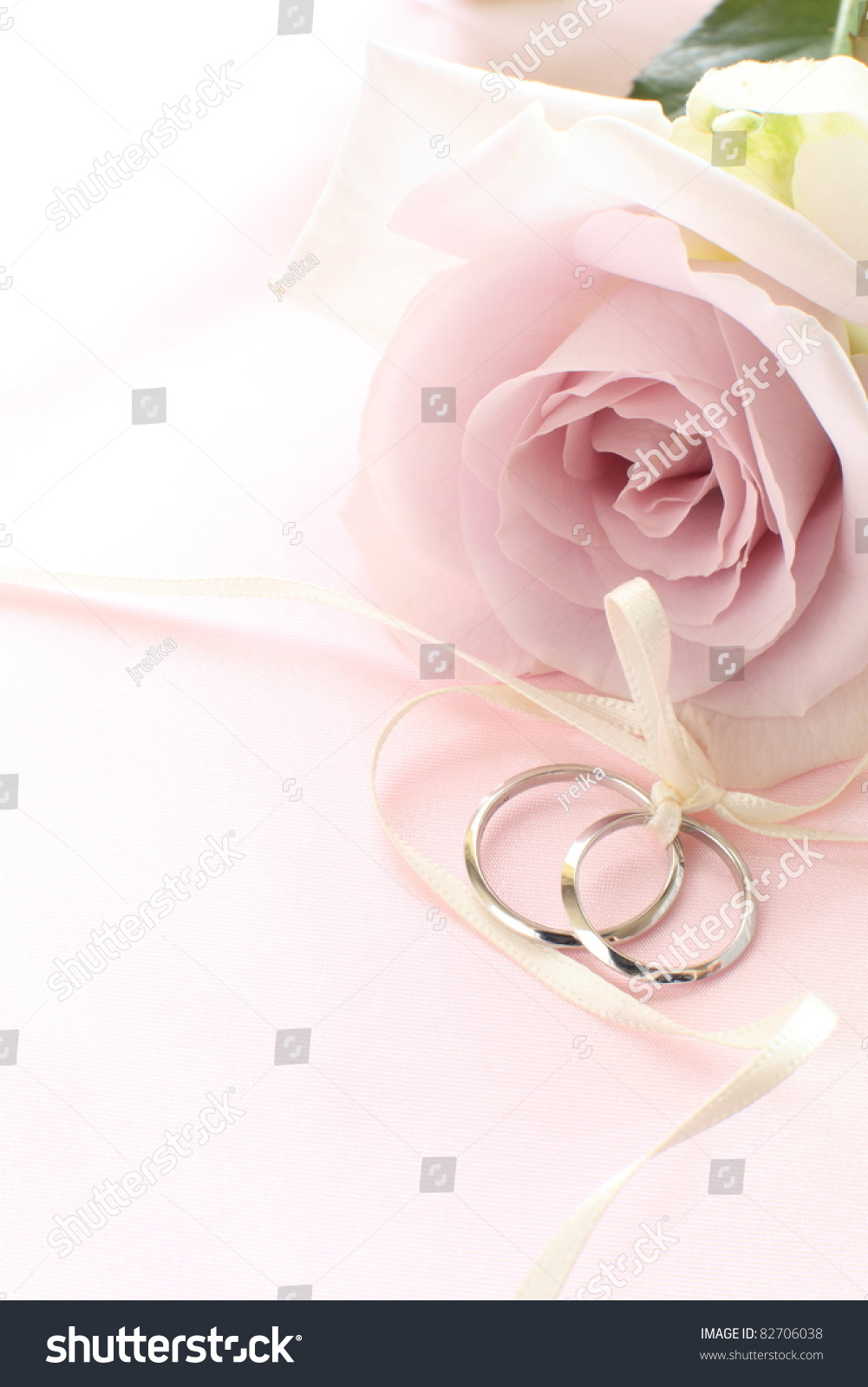 Pair Wedding Rings Pastel Purple Rose Stock Photo (Edit Now ...