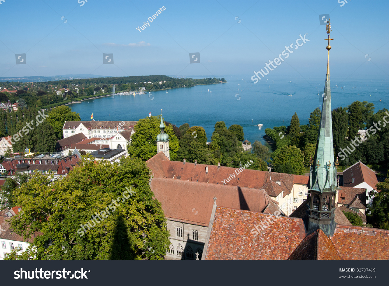Costance church boden lake germany switzerland stock photo for Boden germany