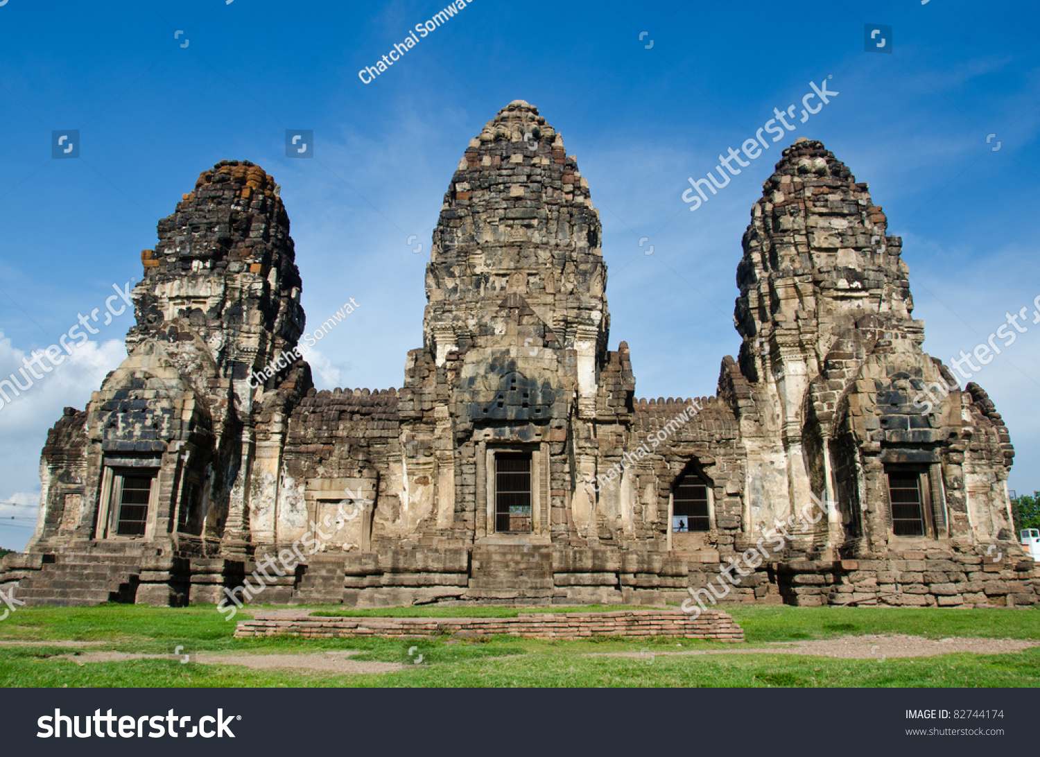 Phra Prang Sam Yod Lopburi Thailand Stock Photo 82744174 ...