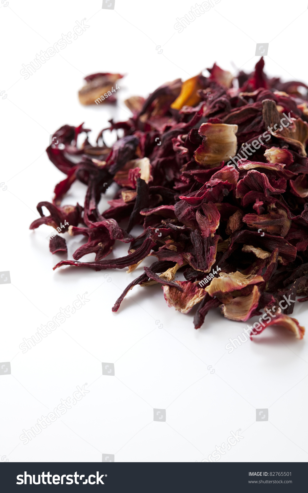 Dried Hibiscus Flower On White Background Stock Photo Edit Now