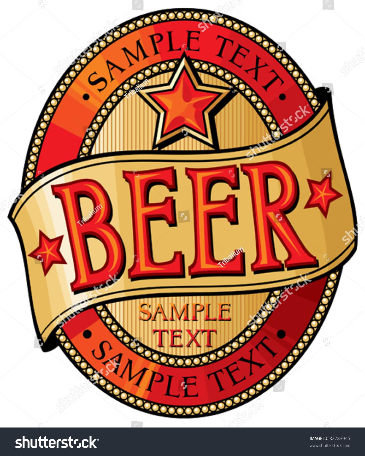 Beer Label Design Vector 82783945 Shutterstock – Beer Label