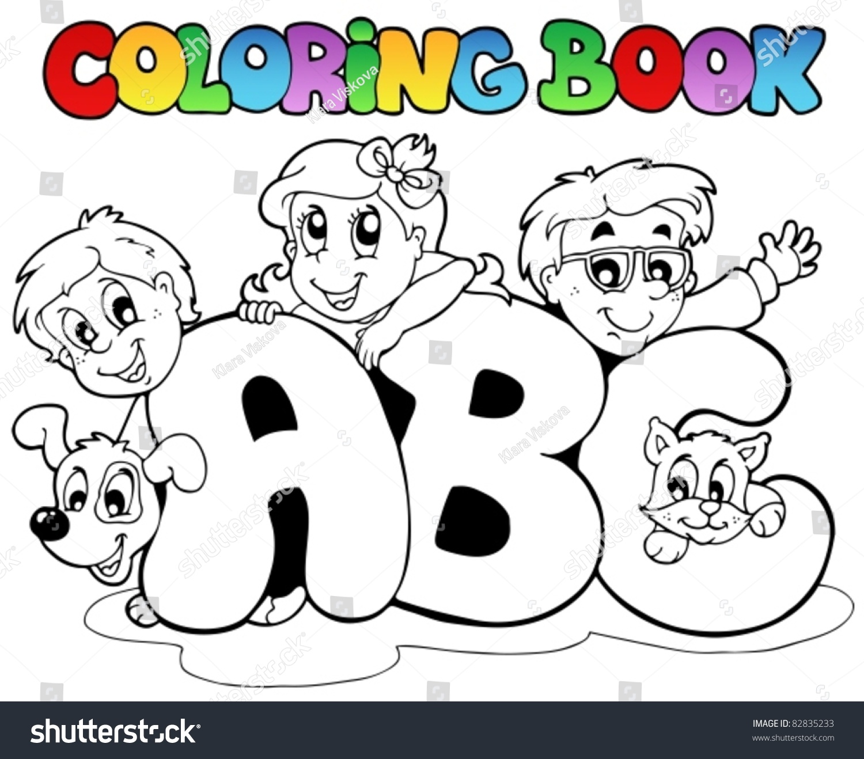 Coloring book school - Coloring Book School Abc Letters Vector Illustration