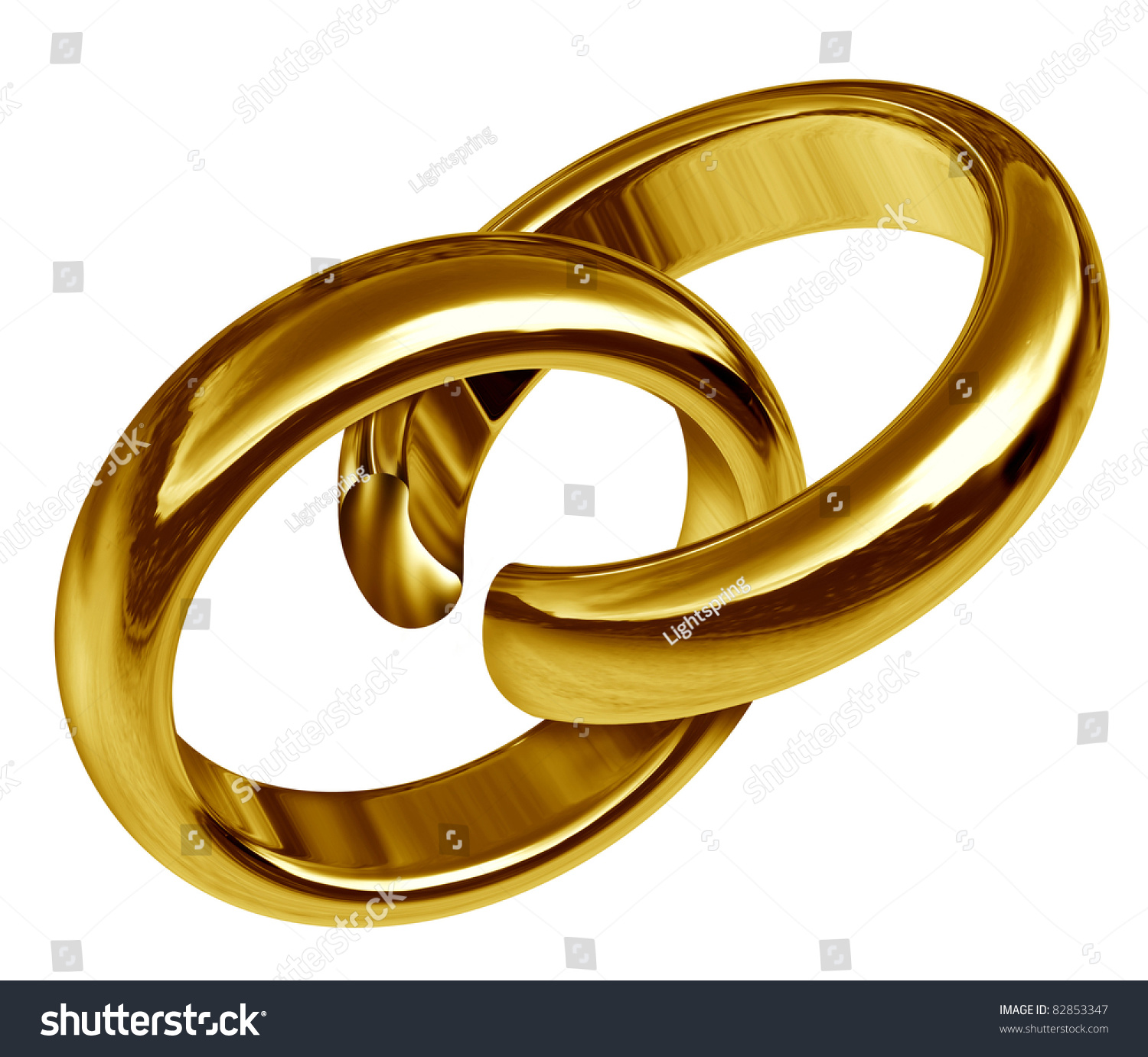 Divorce Separation Symbol Represented By Two Stock Illustration